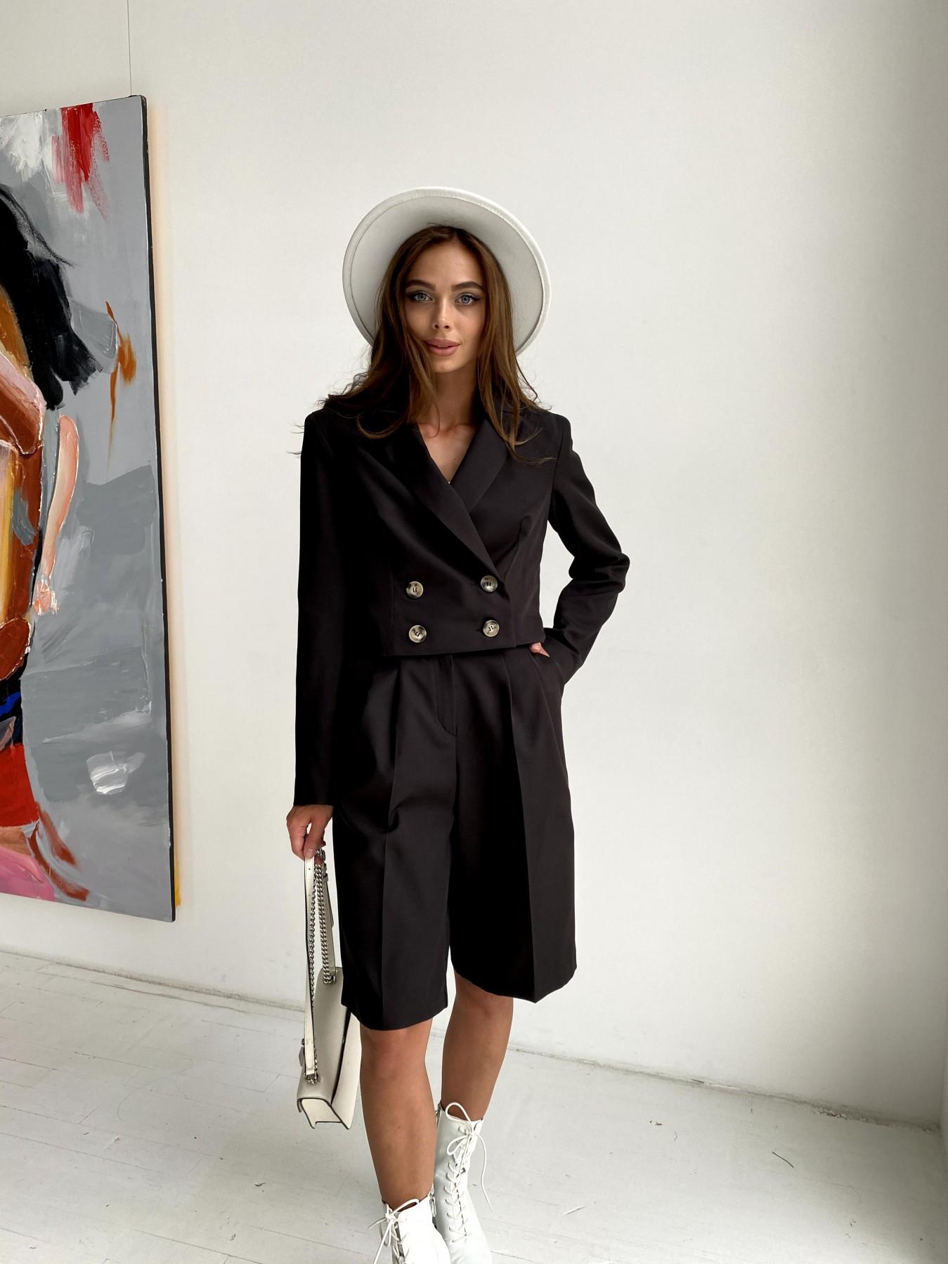 Оксфорд костюм из костюмной ткани стрейч 11548 АРТ. 48430 Цвет: Черный - фото 2, интернет магазин tm-modus.ru