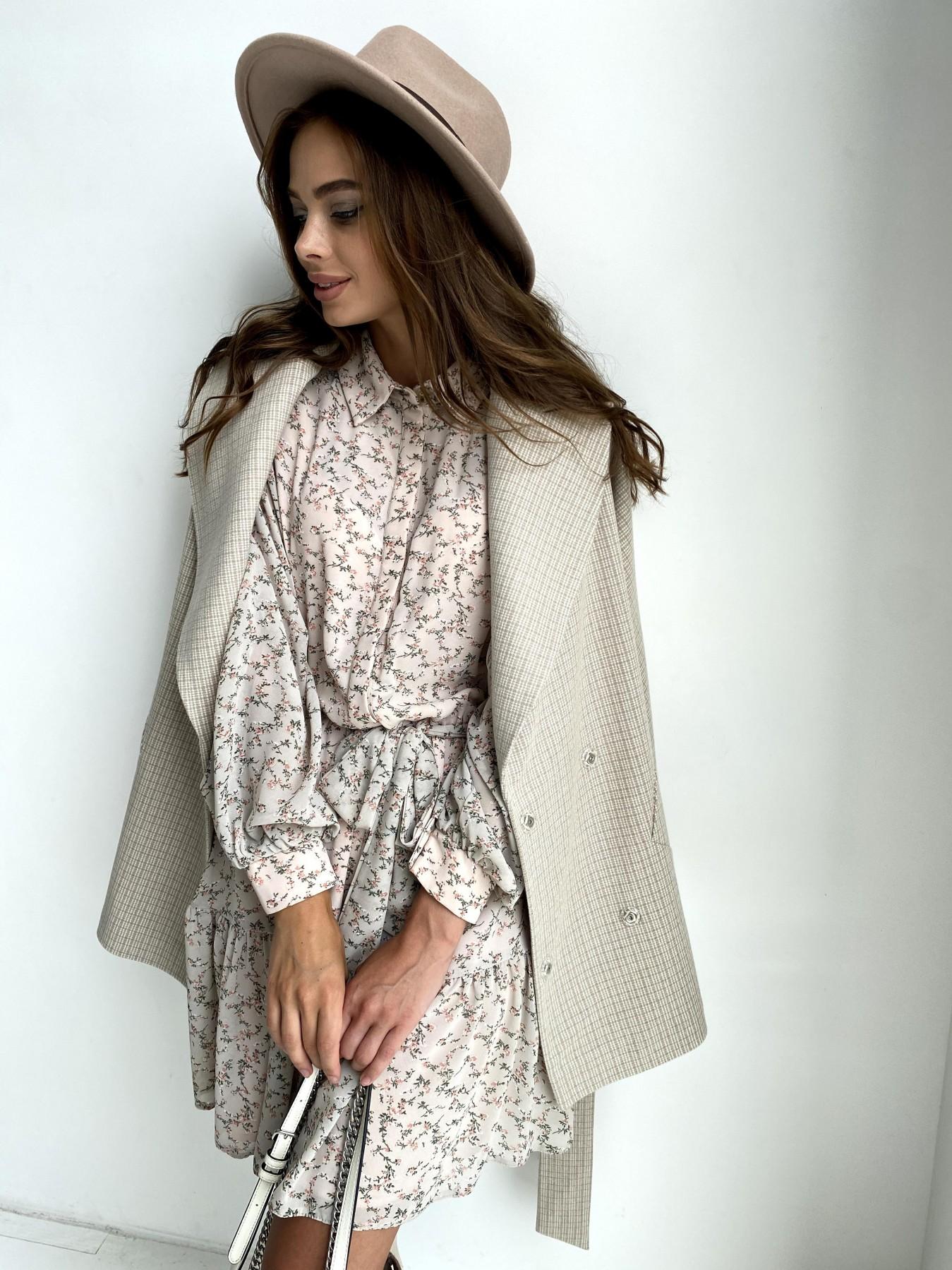 Дефиле пальто из тонкого кашемира 11745 АРТ. 48439 Цвет: Бежевый/молоко/КлМелкая - фото 3, интернет магазин tm-modus.ru
