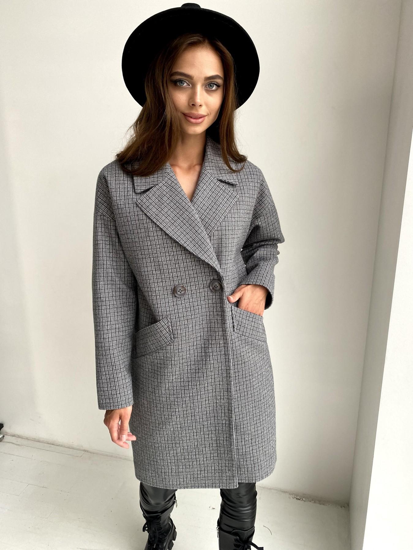 Купить женское пальто в Украине Сенсей пальто в клетку из тонкого кашемира 11754