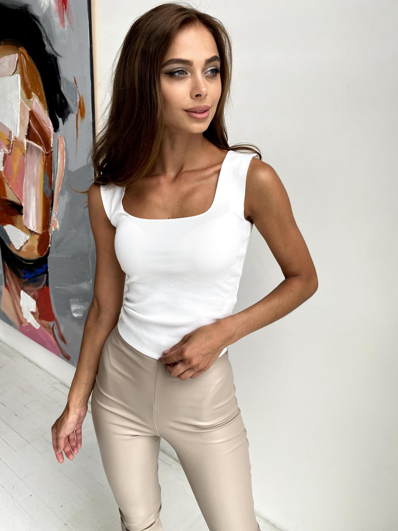 Топ из трикотажа 90848 АРТ. 48497 Цвет: Белый - фото 1, интернет магазин tm-modus.ru