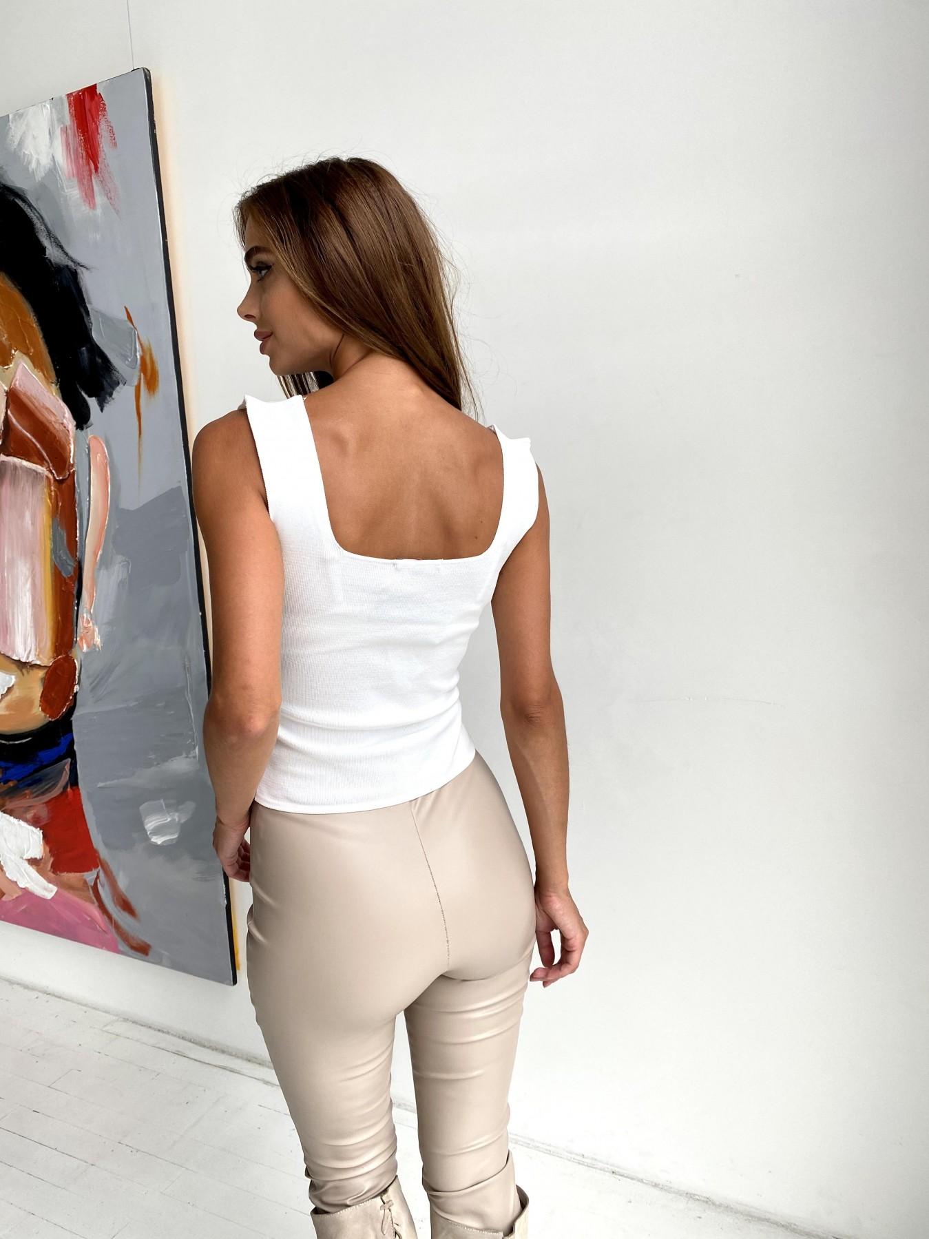 Топ из трикотажа 90848 АРТ. 48497 Цвет: Белый - фото 2, интернет магазин tm-modus.ru