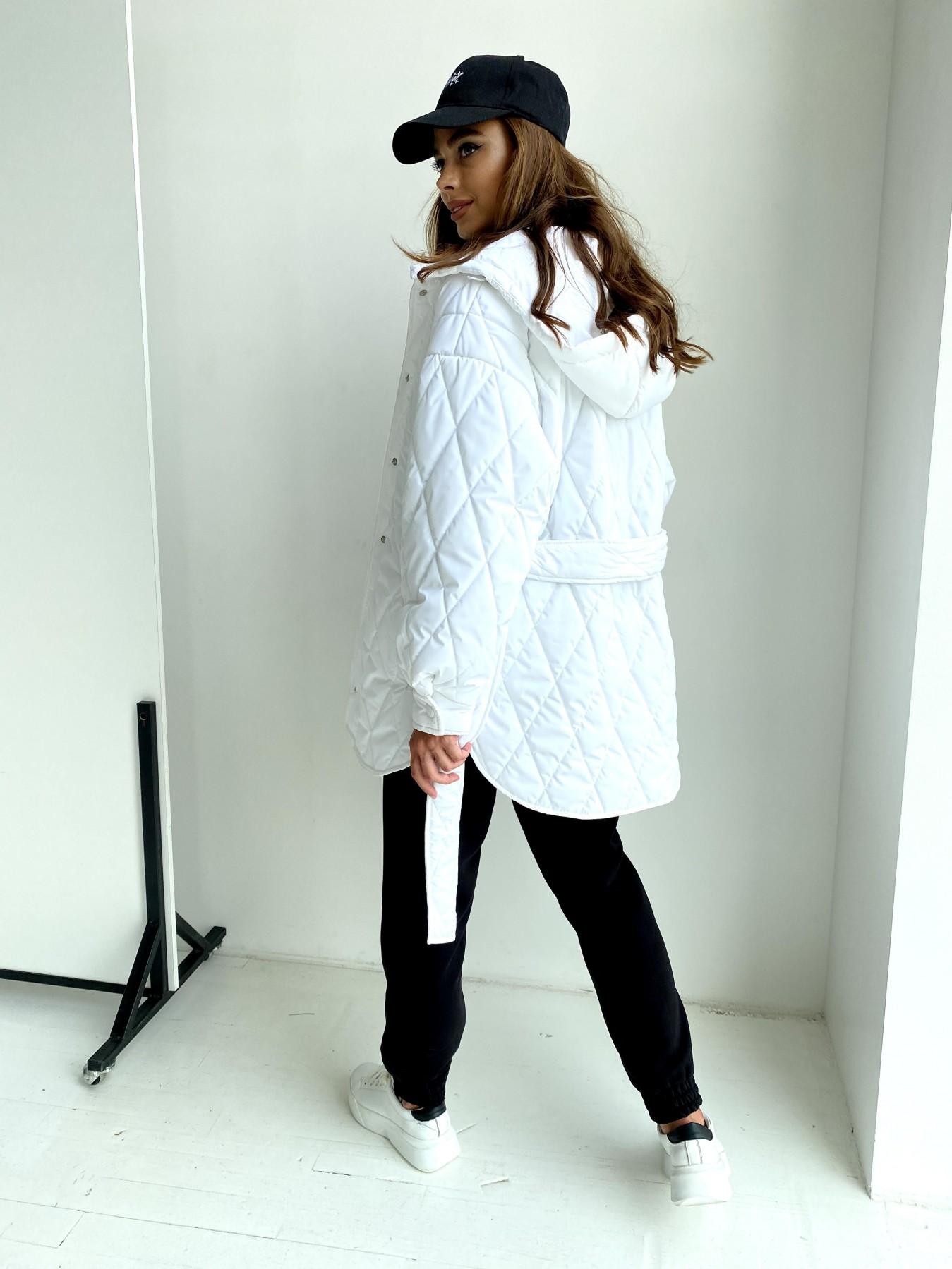 Пазл стеганая куртка из плащевки 11764 АРТ. 48509 Цвет: Молоко 12 - фото 1, интернет магазин tm-modus.ru