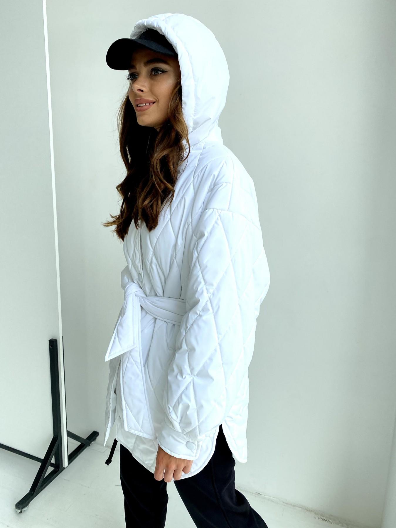 Пазл стеганая куртка из плащевки 11764 АРТ. 48509 Цвет: Молоко 12 - фото 2, интернет магазин tm-modus.ru