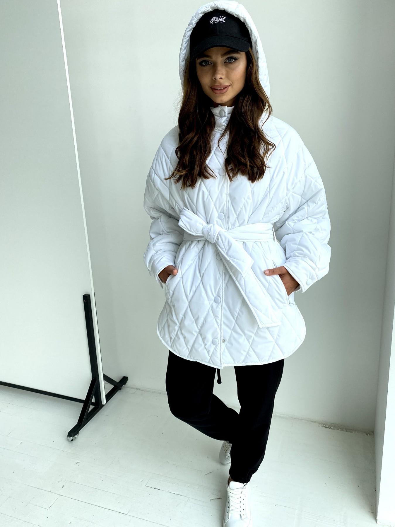 Пазл стеганая куртка из плащевки 11764 АРТ. 48509 Цвет: Молоко 12 - фото 3, интернет магазин tm-modus.ru