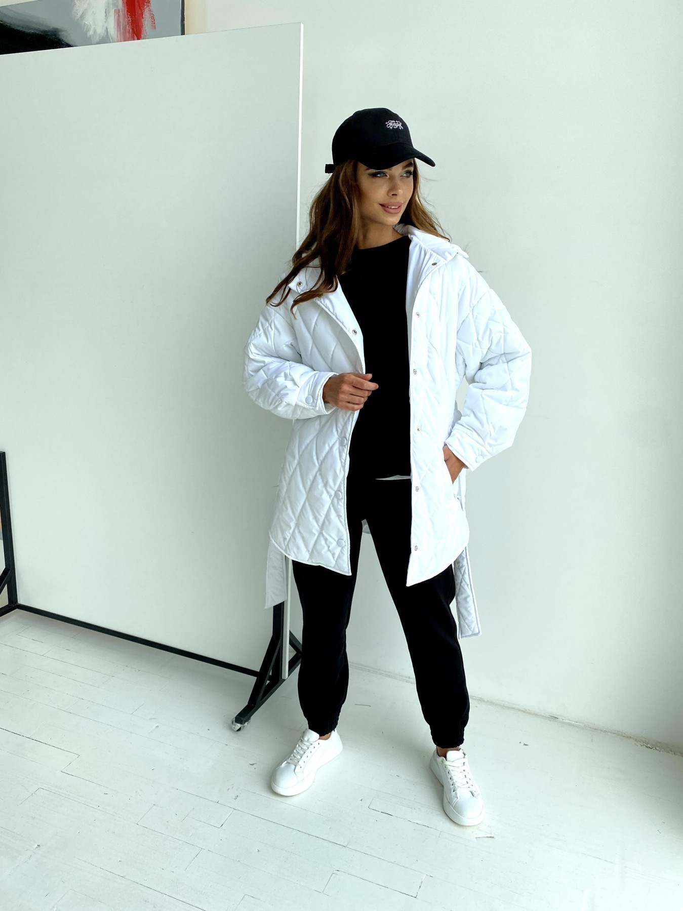 Пазл стеганая куртка из плащевки 11764 АРТ. 48509 Цвет: Молоко 12 - фото 5, интернет магазин tm-modus.ru