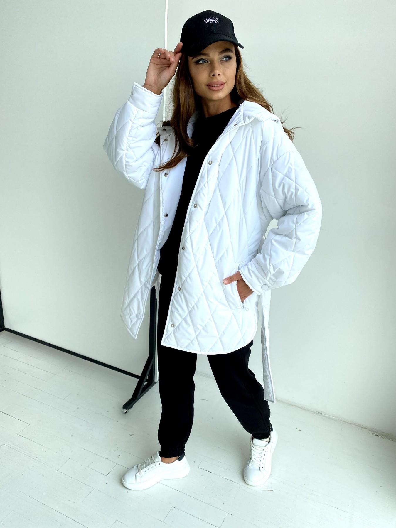 Пазл стеганая куртка из плащевки 11764 АРТ. 48509 Цвет: Молоко 12 - фото 6, интернет магазин tm-modus.ru