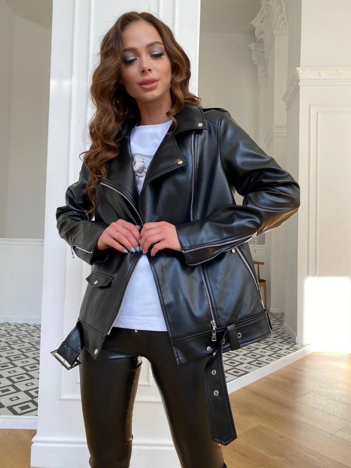 женские куртки оптом Босс куртка из экокожи прокатанной  11173
