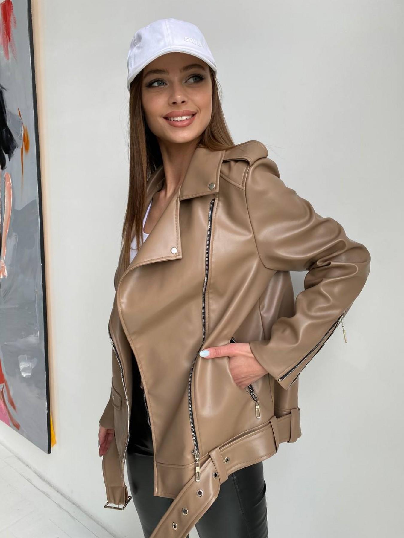 демисезонные куртки Босс куртка из экокожи прокатанной  11173