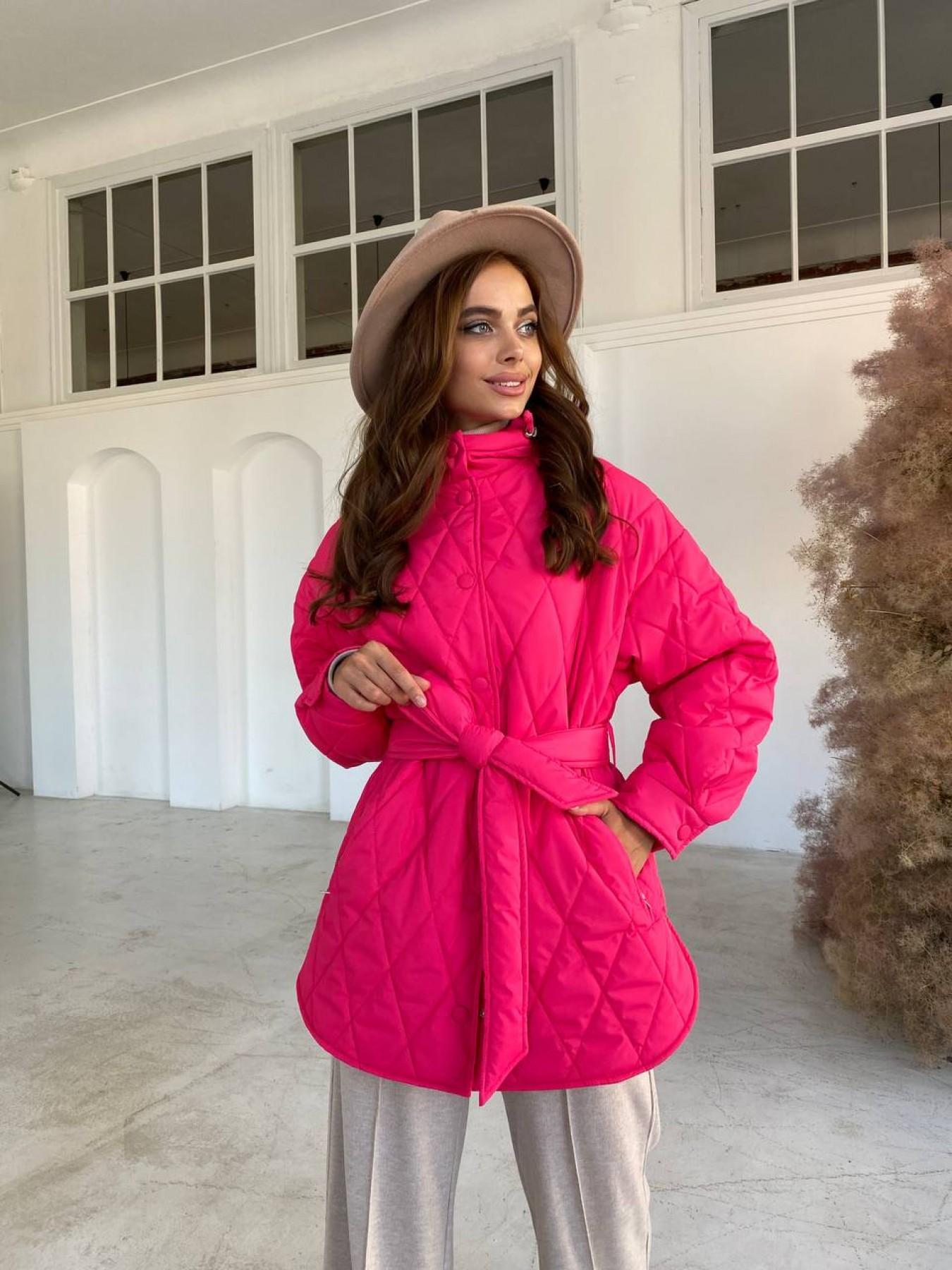Пазл стеганая куртка из плащевки 11764 АРТ. 48504 Цвет: Малина - фото 5, интернет магазин tm-modus.ru