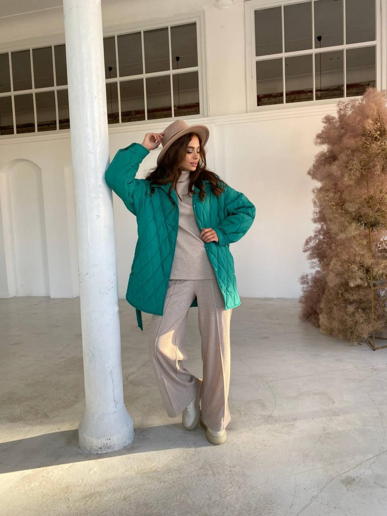 Пазл стеганая куртка из плащевки 11764 АРТ. 48505 Цвет: Зеленый 2 - фото 4, интернет магазин tm-modus.ru