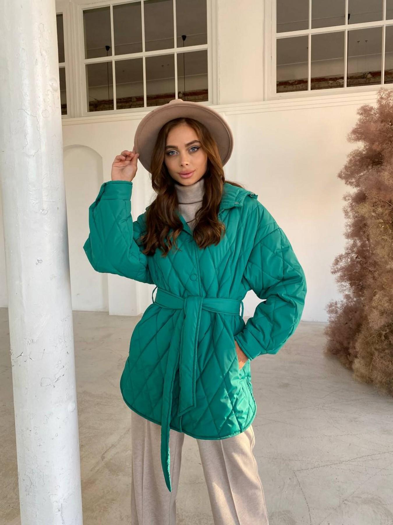 Пазл стеганая куртка из плащевки 11764 АРТ. 48505 Цвет: Зеленый 2 - фото 5, интернет магазин tm-modus.ru