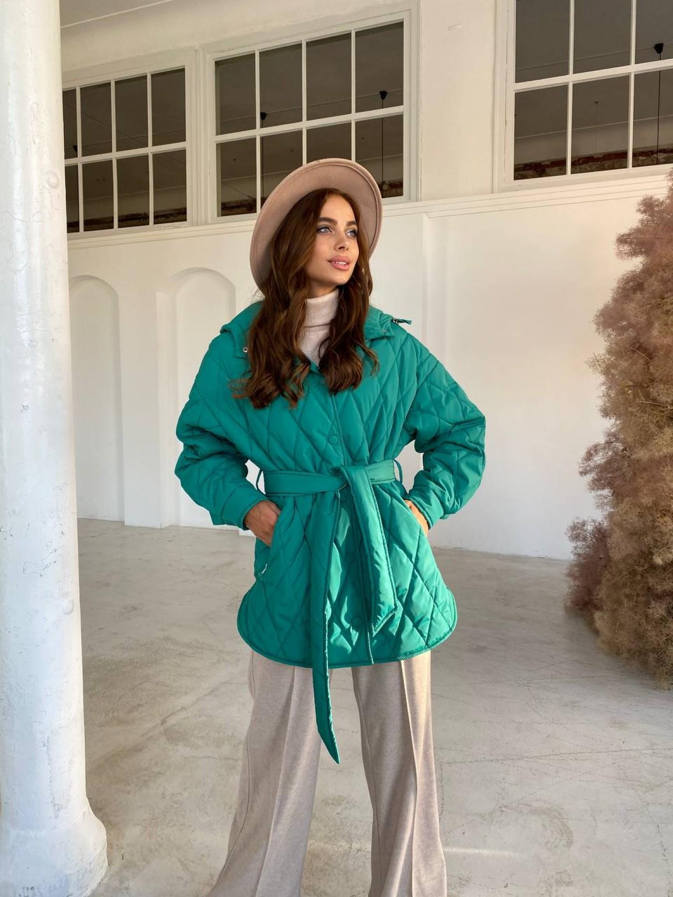 Пазл стеганая куртка из плащевки 11764 АРТ. 48505 Цвет: Зеленый 2 - фото 7, интернет магазин tm-modus.ru