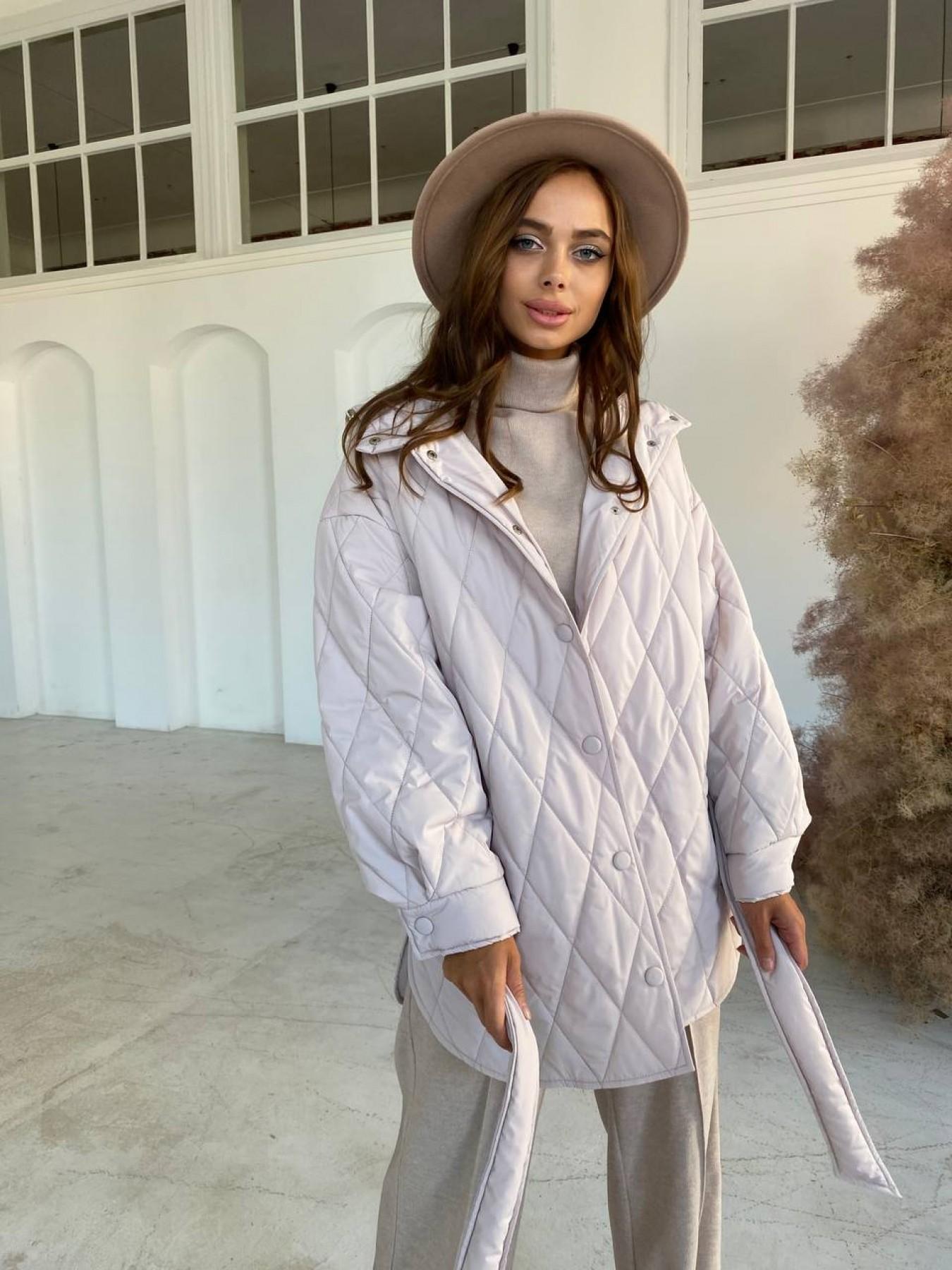 Пазл стеганая куртка из плащевки 10890 АРТ. 47355 Цвет: Бежевый 970 - фото 6, интернет магазин tm-modus.ru