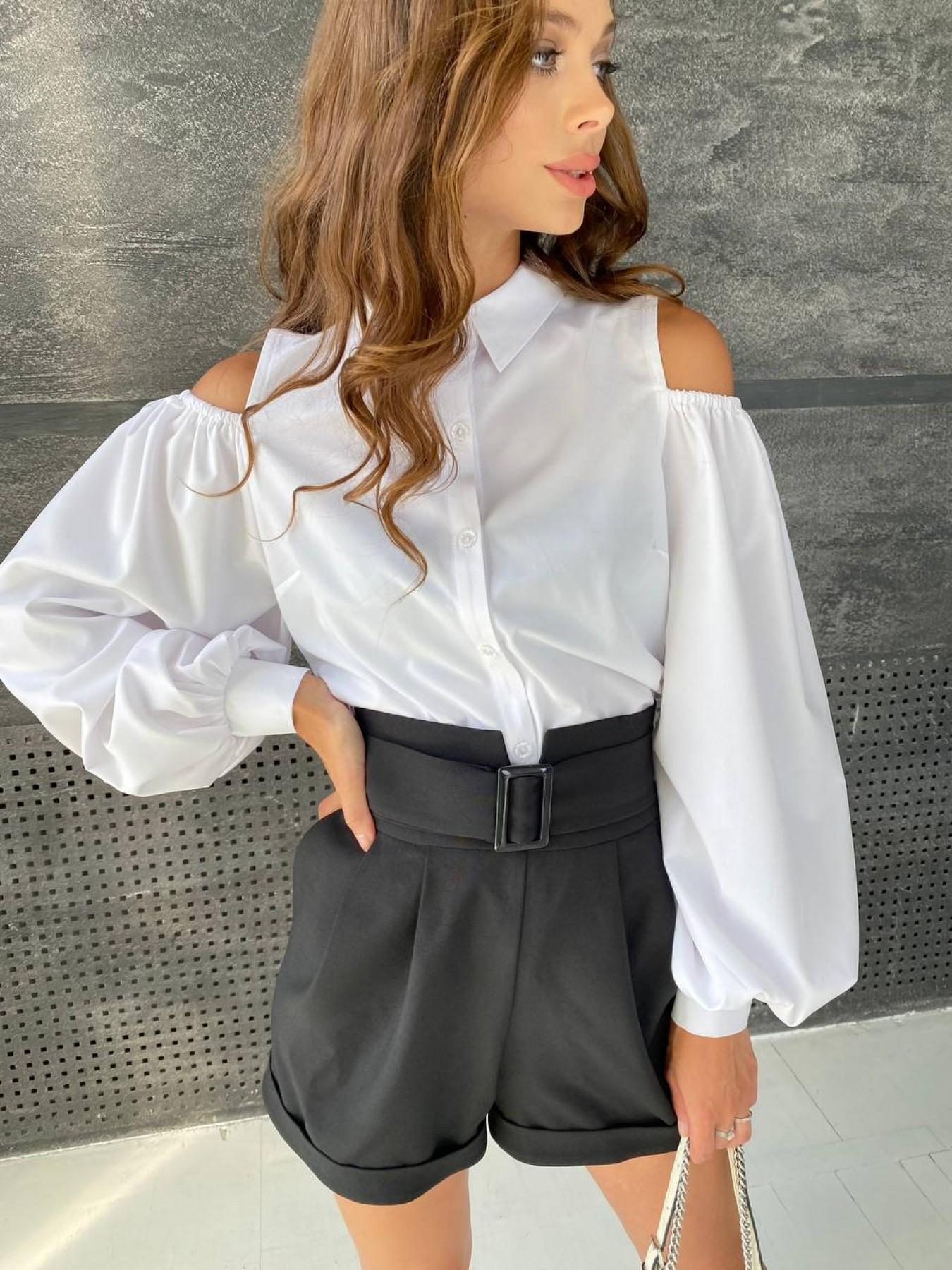 Бостон шорты костюмка креп стрейч 11676 АРТ. 48384 Цвет: Черный - фото 2, интернет магазин tm-modus.ru