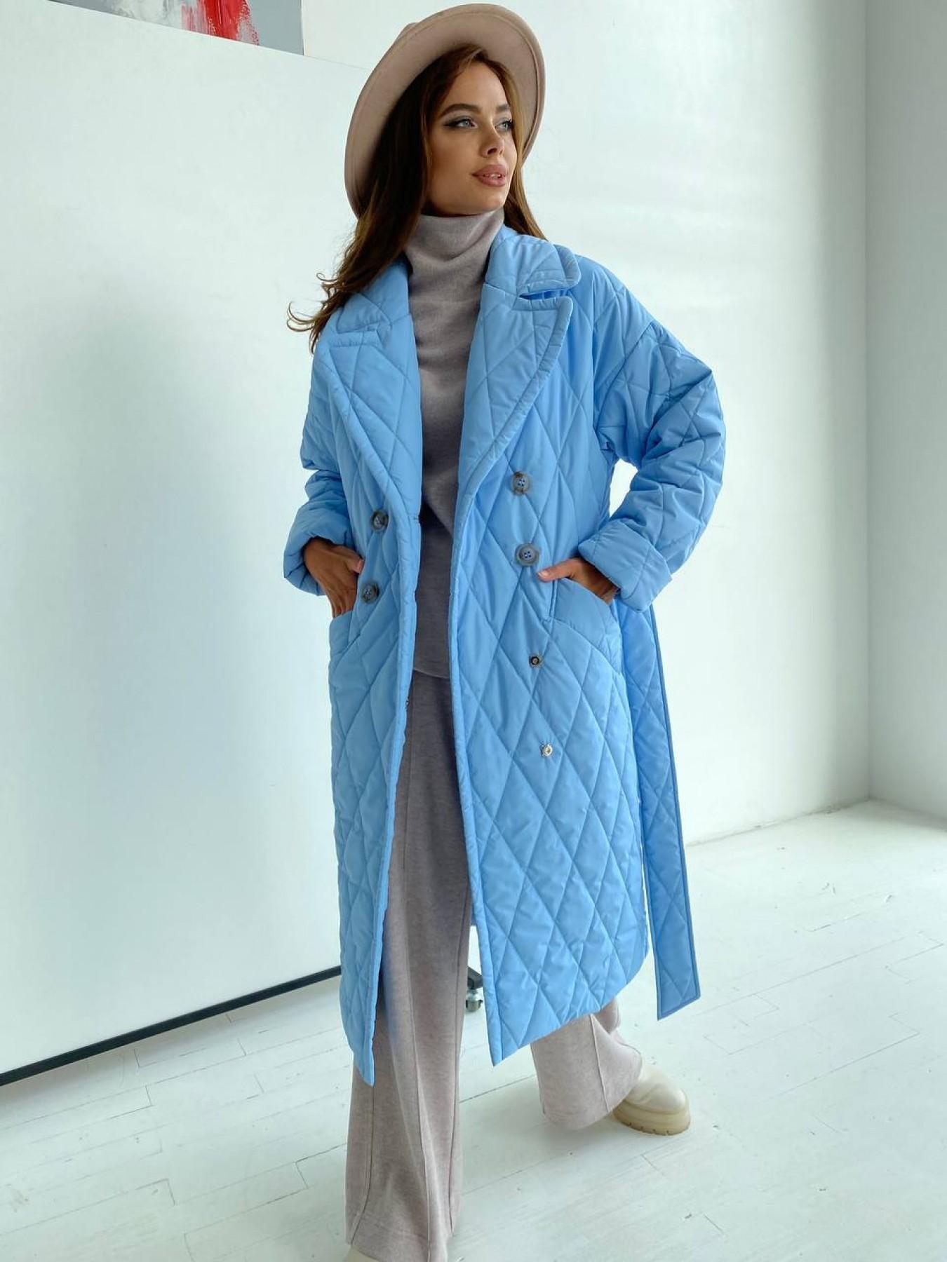 Хаски пальто из стеганой плащевки в ромб 11697 АРТ. 48491 Цвет: Голубой - фото 1, интернет магазин tm-modus.ru