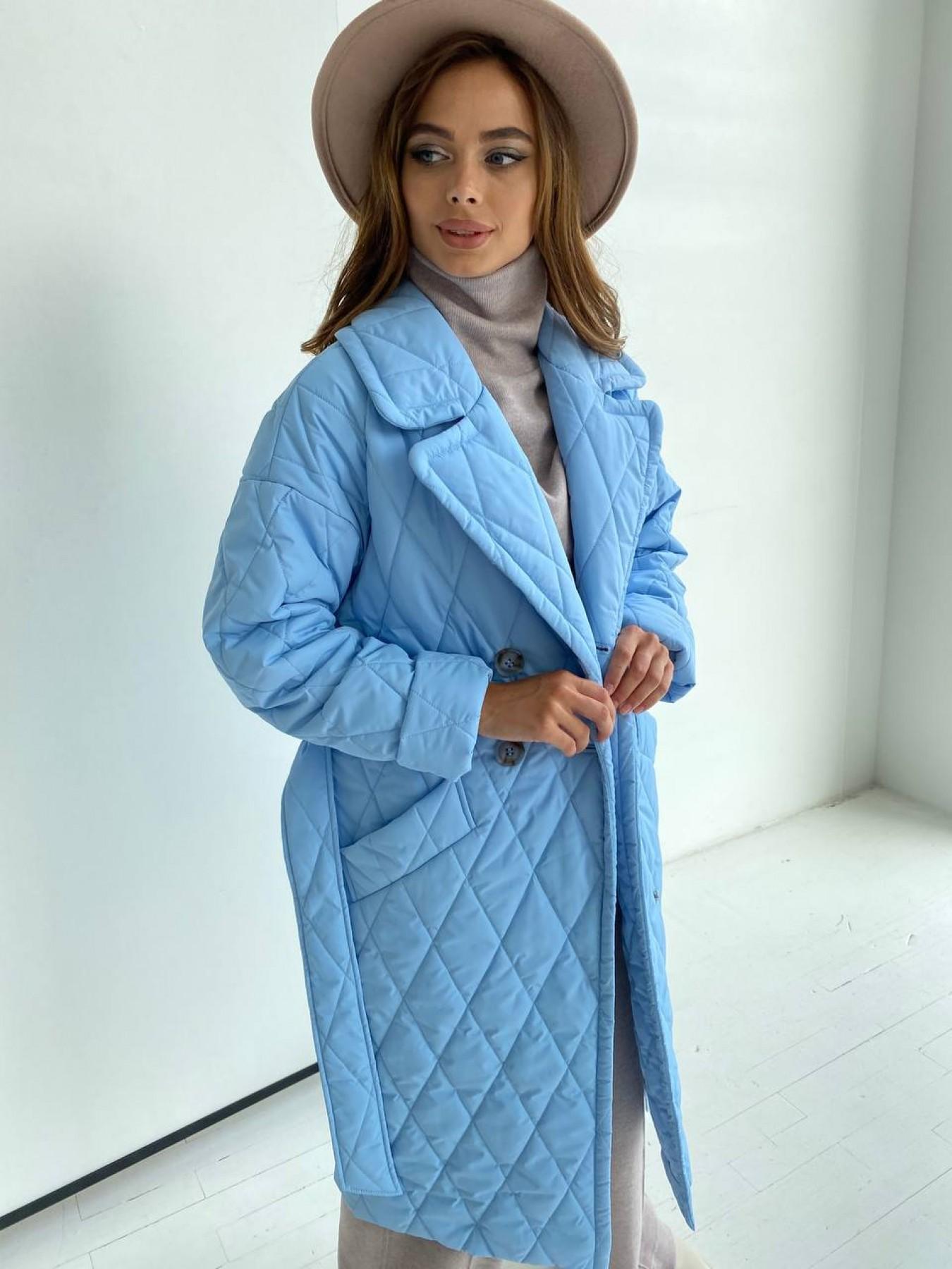Хаски пальто из стеганой плащевки в ромб 11697 АРТ. 48491 Цвет: Голубой - фото 6, интернет магазин tm-modus.ru