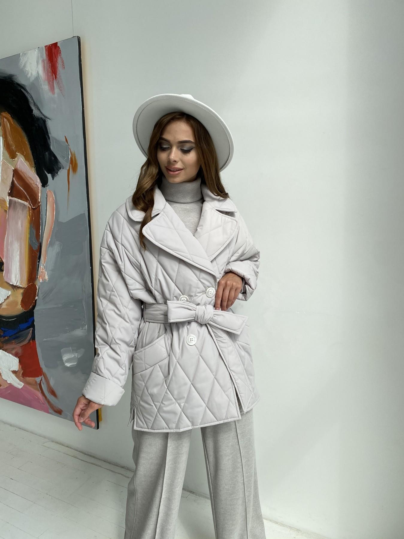 Норд стеганая куртка из плащеки 11770  АРТ. 48510 Цвет: Бежевый 971 - фото 2, интернет магазин tm-modus.ru