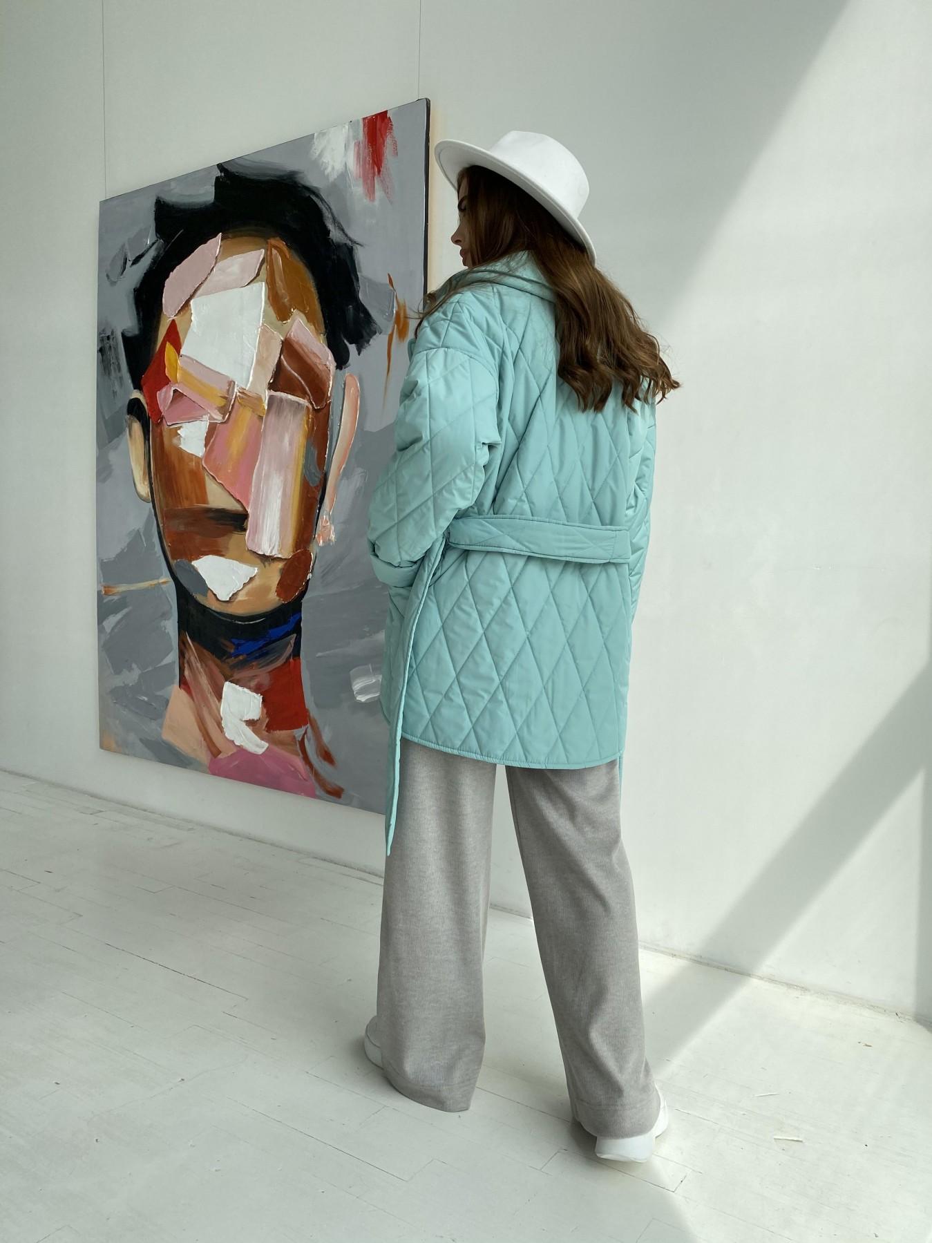Норд стеганая куртка из плащеки 11770  АРТ. 48511 Цвет: Олива 2 - фото 3, интернет магазин tm-modus.ru