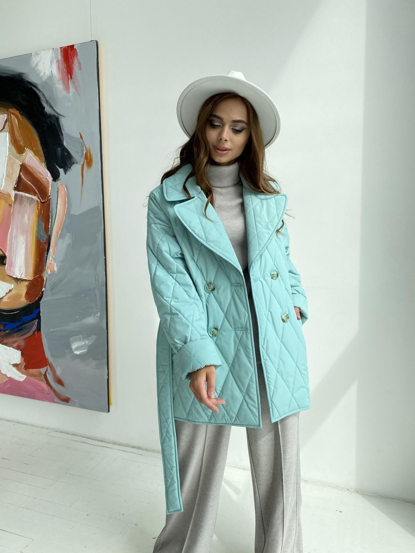 Норд стеганая куртка из плащеки 11770  АРТ. 48511 Цвет: Олива 2 - фото 4, интернет магазин tm-modus.ru