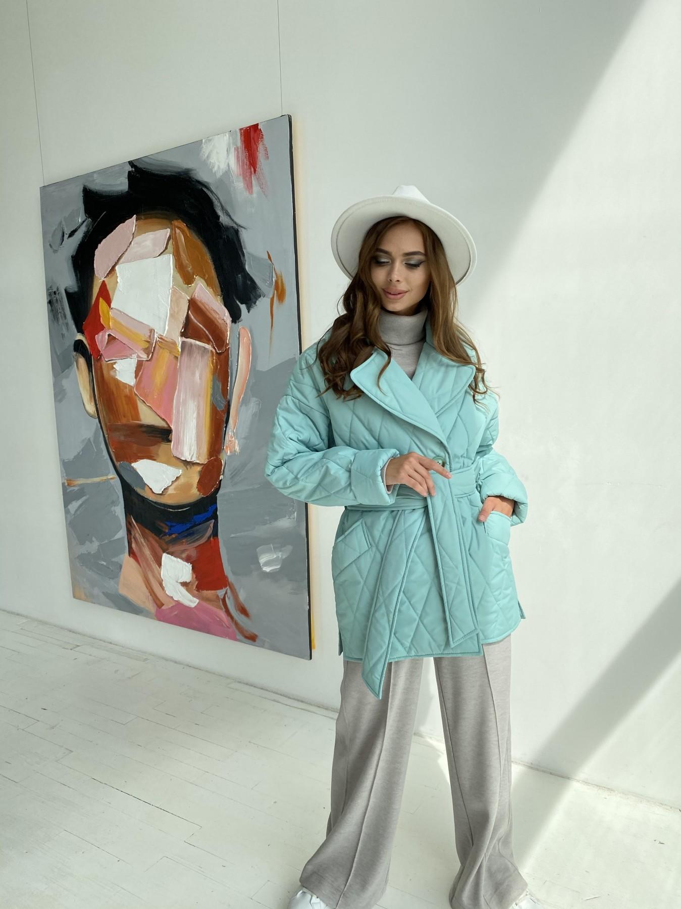 Норд стеганая куртка из плащеки 11770  АРТ. 48511 Цвет: Олива 2 - фото 6, интернет магазин tm-modus.ru