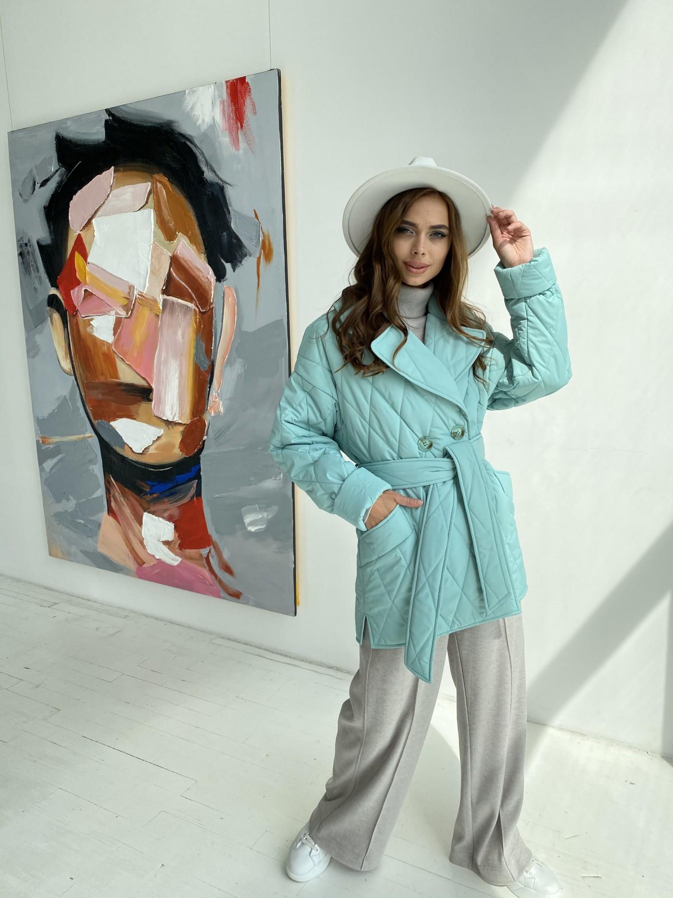 Норд стеганая куртка из плащеки 11770  АРТ. 48511 Цвет: Олива 2 - фото 7, интернет магазин tm-modus.ru