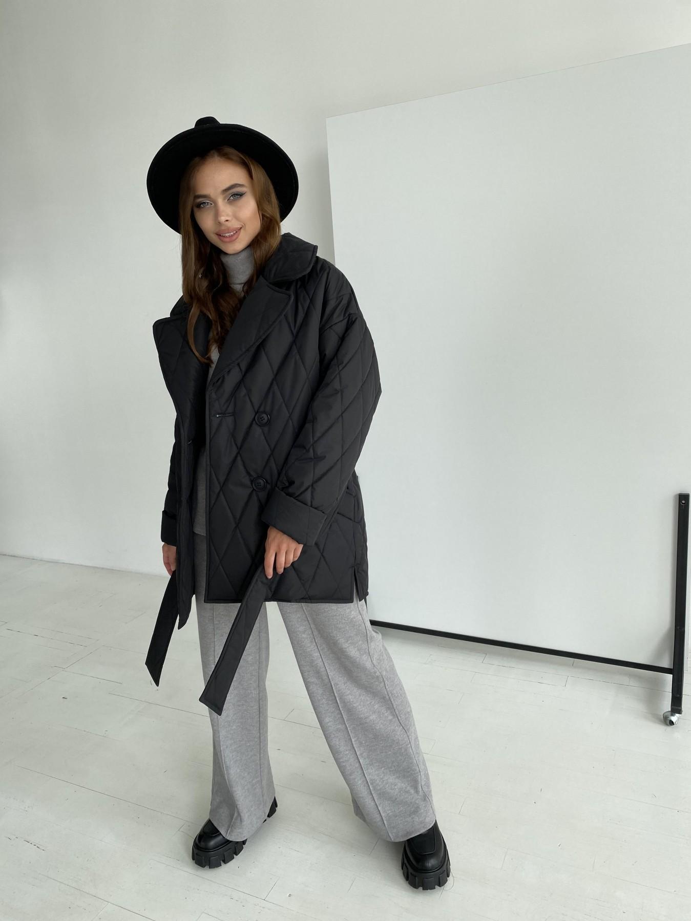 Норд стеганая куртка из плащеки 11770  АРТ. 48512 Цвет: Черный - фото 1, интернет магазин tm-modus.ru