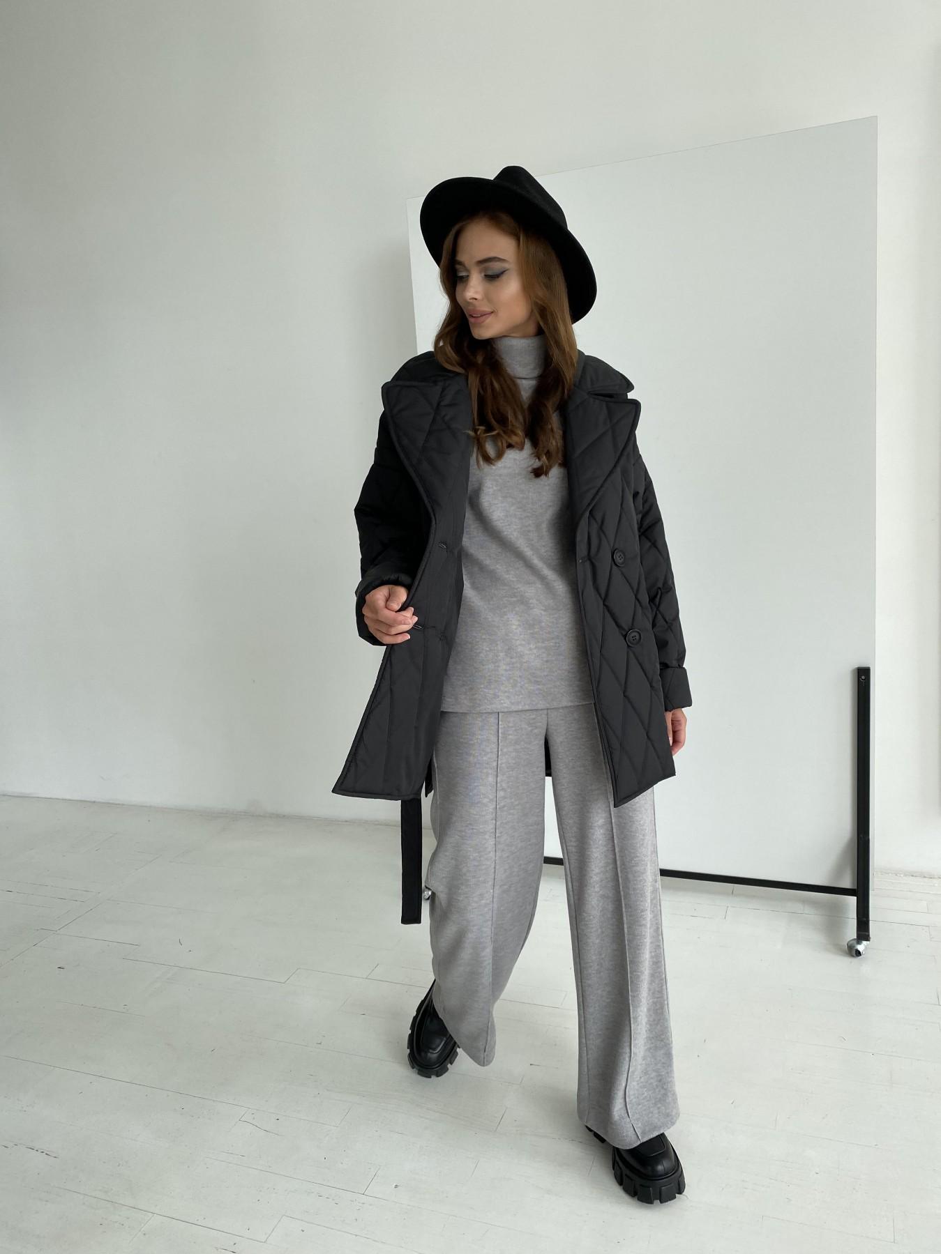 Норд стеганая куртка из плащеки 11770  АРТ. 48512 Цвет: Черный - фото 2, интернет магазин tm-modus.ru