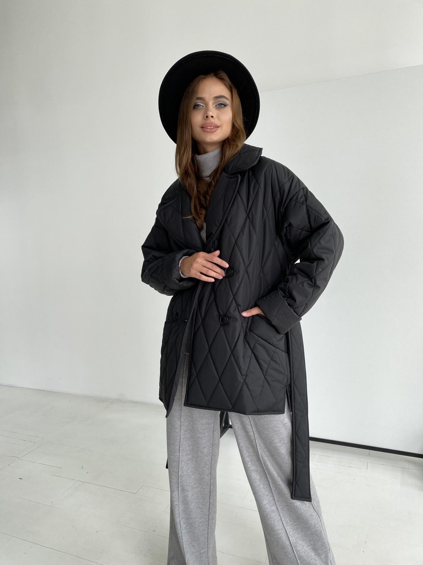 Норд стеганая куртка из плащеки 11770  АРТ. 48512 Цвет: Черный - фото 3, интернет магазин tm-modus.ru