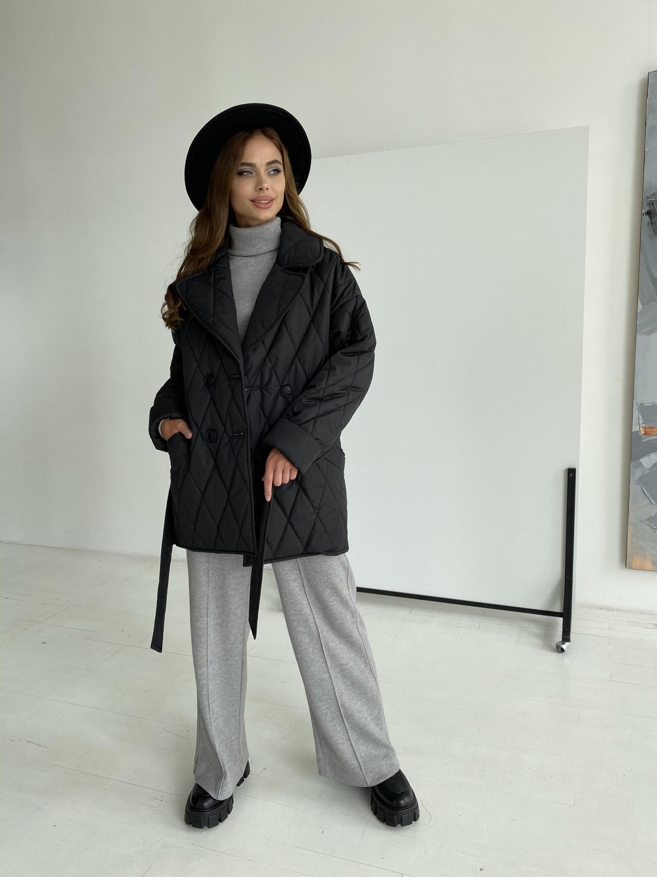 Норд стеганая куртка из плащеки 11770  АРТ. 48512 Цвет: Черный - фото 5, интернет магазин tm-modus.ru