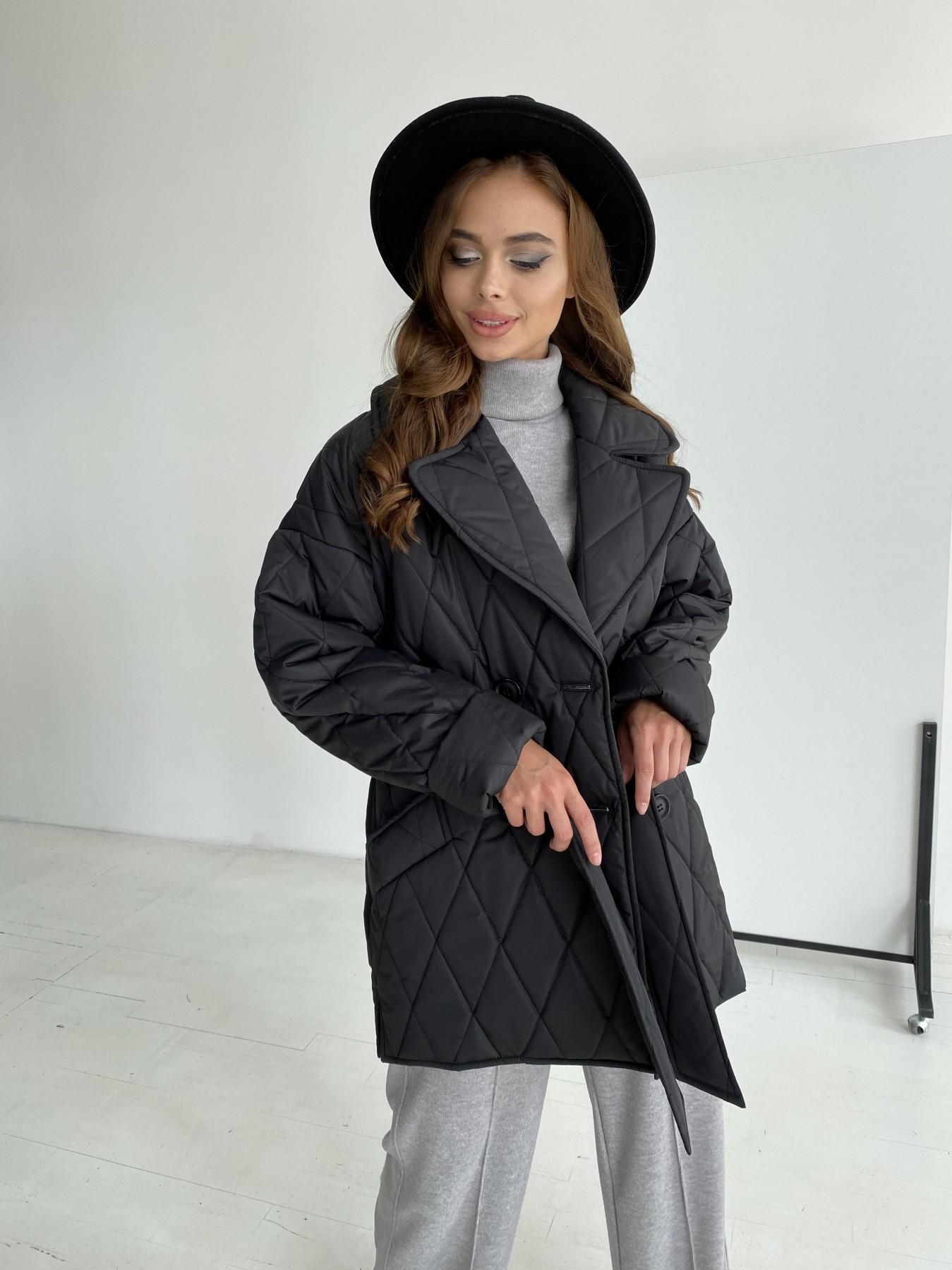 Норд стеганая куртка из плащеки 11770  АРТ. 48512 Цвет: Черный - фото 6, интернет магазин tm-modus.ru