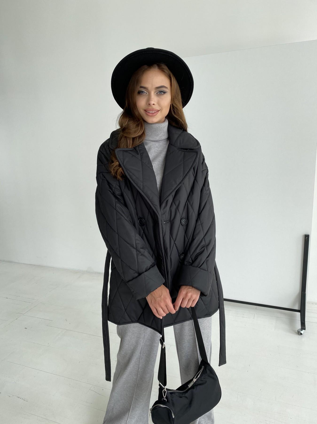 Норд стеганая куртка из плащеки 11770  АРТ. 48512 Цвет: Черный - фото 7, интернет магазин tm-modus.ru