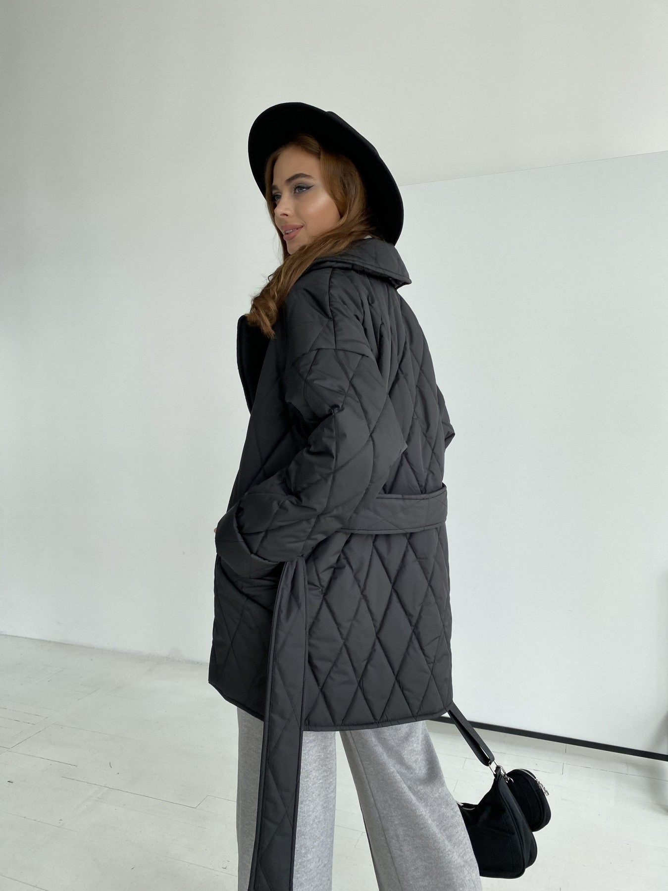 Норд стеганая куртка из плащеки 11770  АРТ. 48512 Цвет: Черный - фото 8, интернет магазин tm-modus.ru