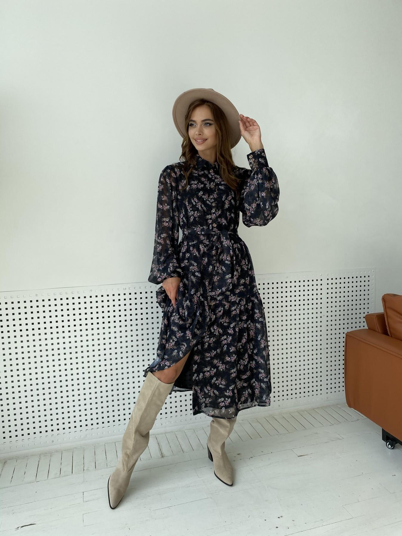 Купить платье оптом Украина Modus Патессери платье из шифона с цветочным принтом 11750