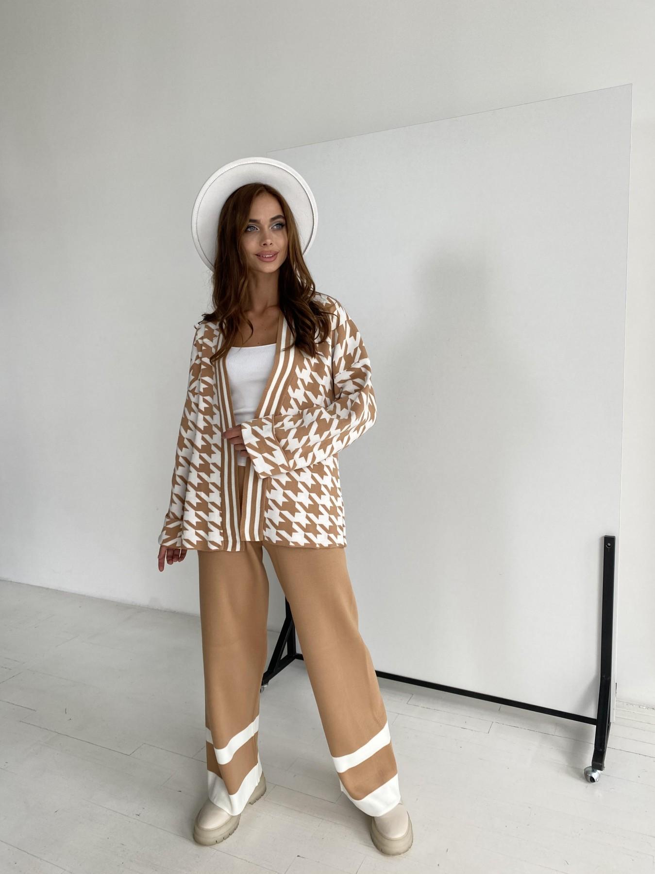 Вязаный трикотажный костюм 91281 АРТ. 48582 Цвет: Кемел/молоко - фото 3, интернет магазин tm-modus.ru