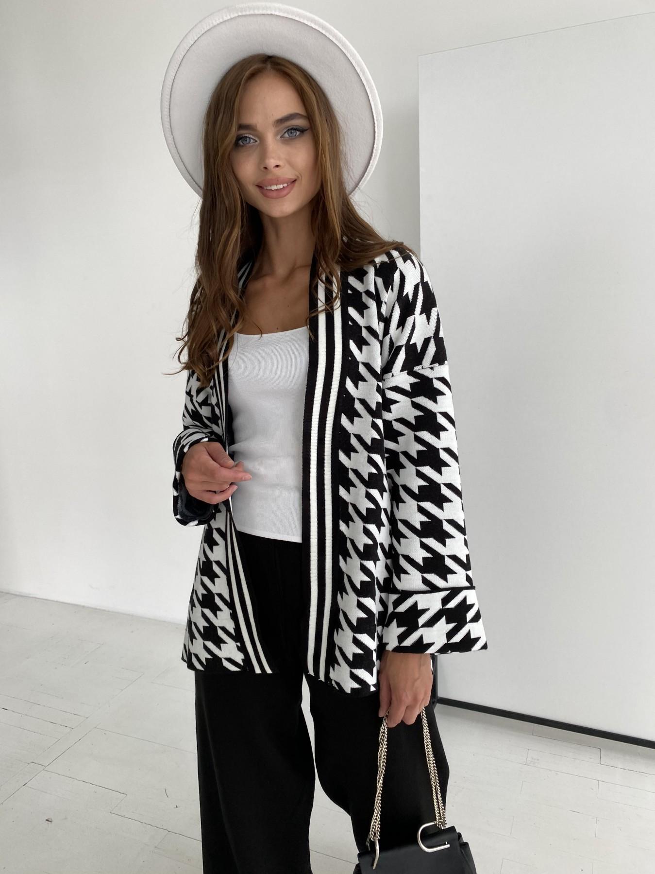 Вязаный трикотажный костюм 91281 АРТ. 48583 Цвет: Черный/Молоко - фото 1, интернет магазин tm-modus.ru