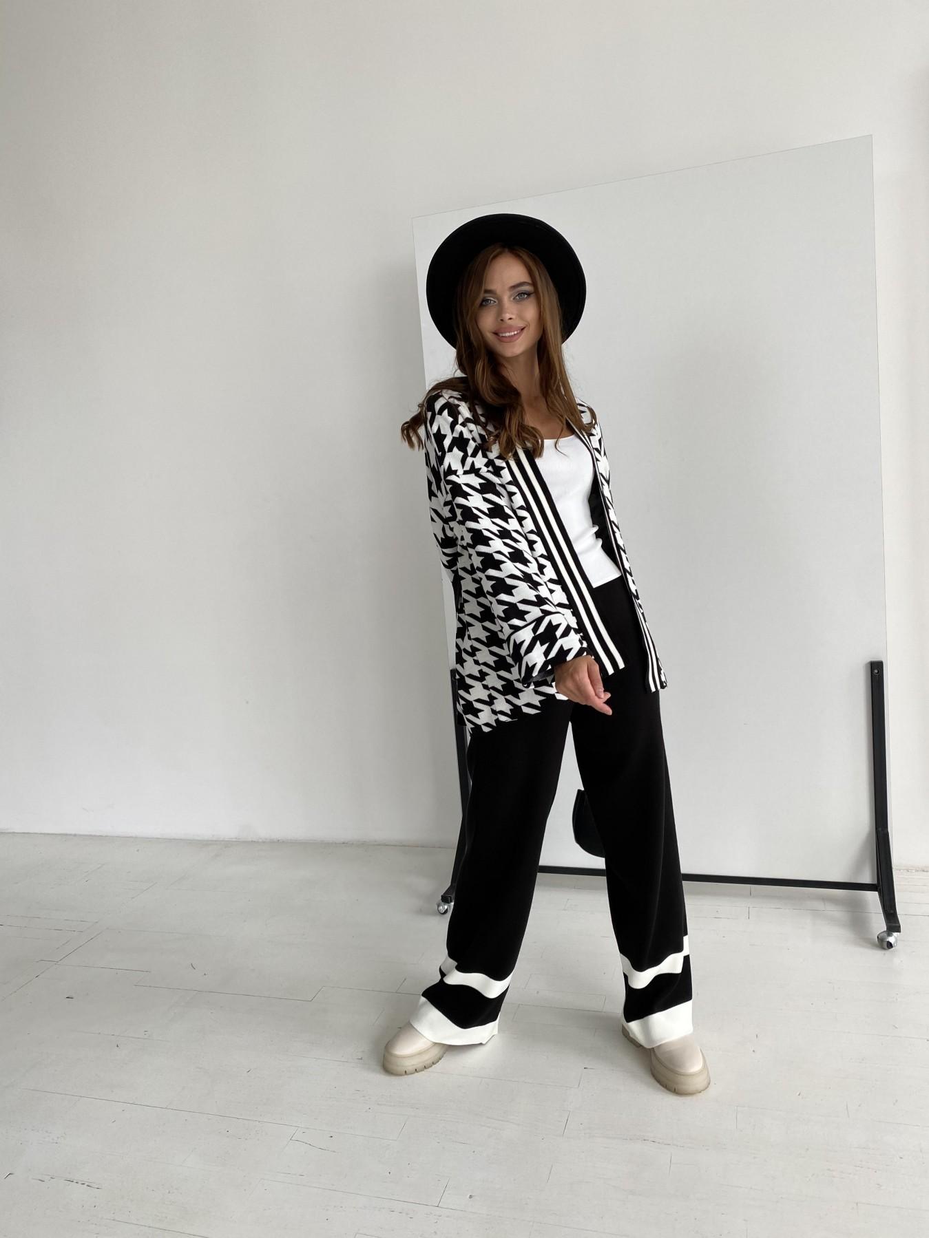 Вязаный трикотажный костюм 91281 АРТ. 48583 Цвет: Черный/Молоко - фото 5, интернет магазин tm-modus.ru