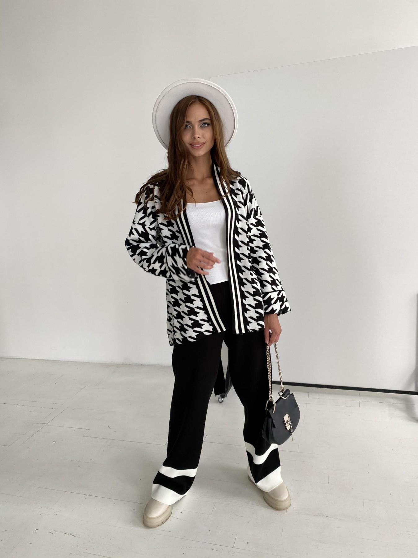 Вязаный трикотажный костюм 91281 АРТ. 48583 Цвет: Черный/Молоко - фото 7, интернет магазин tm-modus.ru