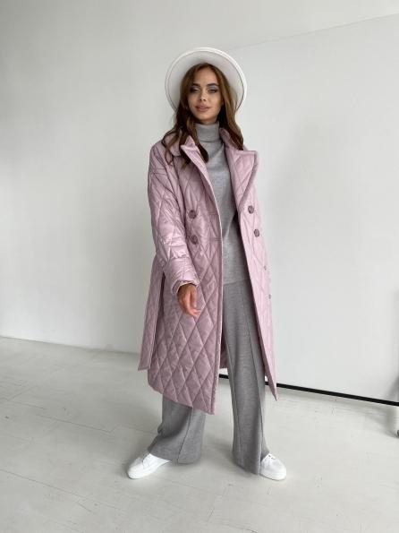 """Купить """"Хаски"""" пальто из стеганой плащевки в ромб 11697 оптом и в розницу"""