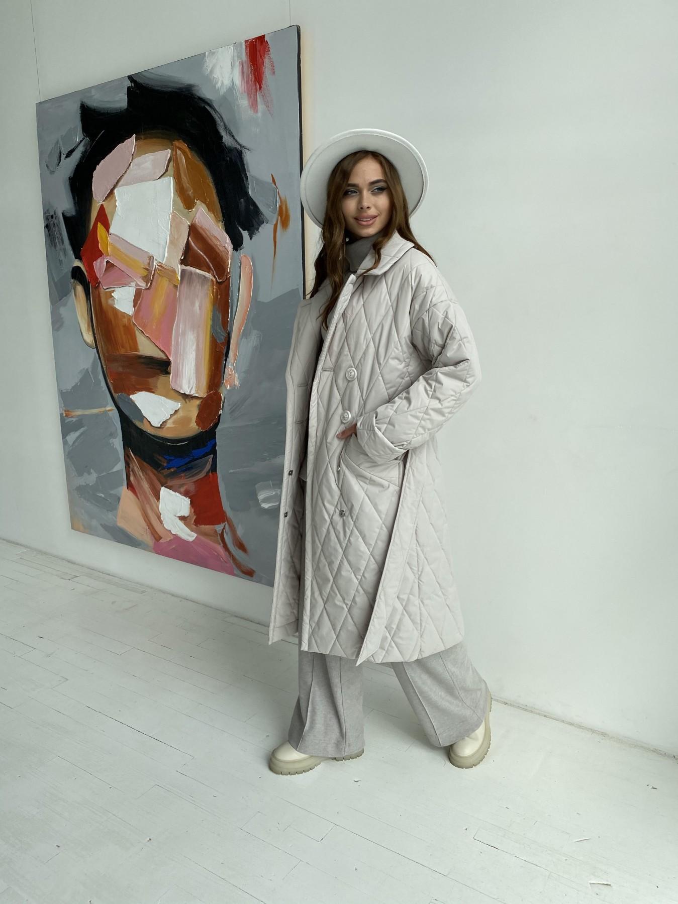 Хаски пальто из стеганой плащевки в ромб 11697 АРТ. 48513 Цвет: Бежевый 971 - фото 5, интернет магазин tm-modus.ru