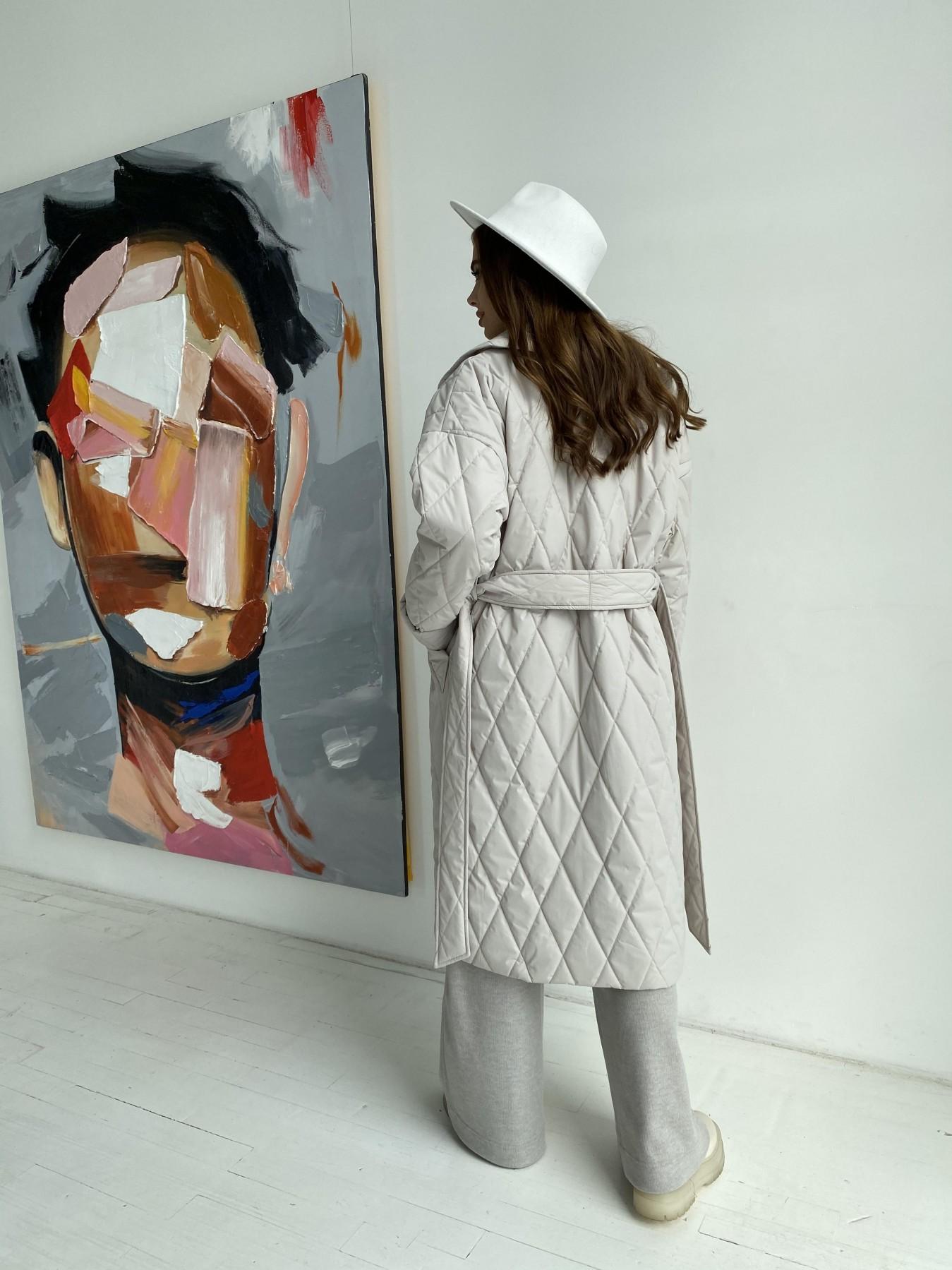 Хаски пальто из стеганой плащевки в ромб 11697 АРТ. 48513 Цвет: Бежевый 971 - фото 8, интернет магазин tm-modus.ru
