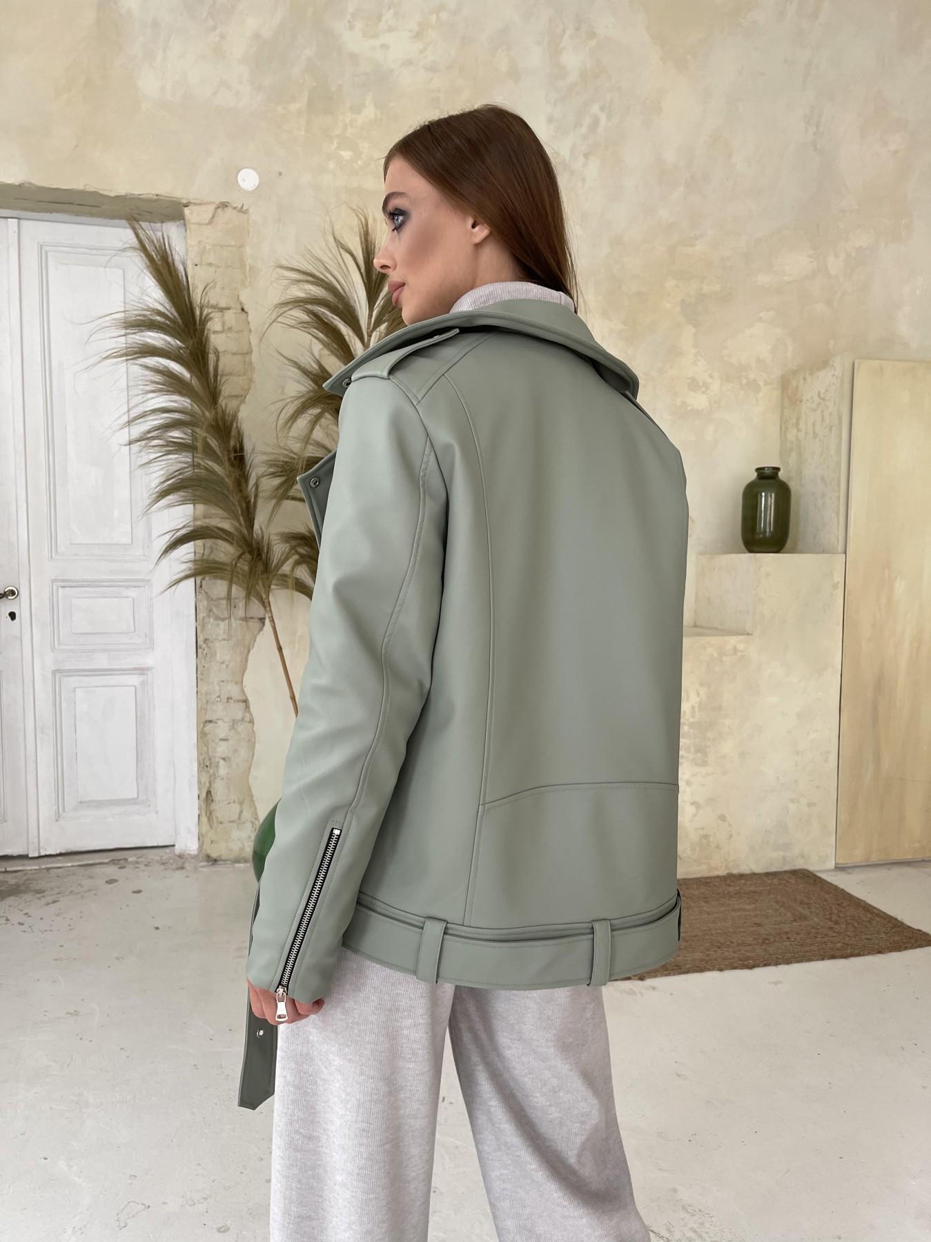 Босс Утепленная куртка из эко-кожи 11772 АРТ. 48578 Цвет: Олива - фото 5, интернет магазин tm-modus.ru