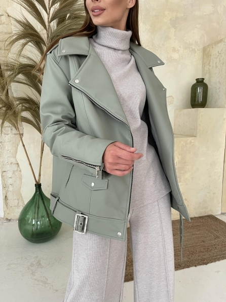 """Купить """"Босс"""" Утепленная куртка из эко-кожи 11772 оптом и в розницу"""