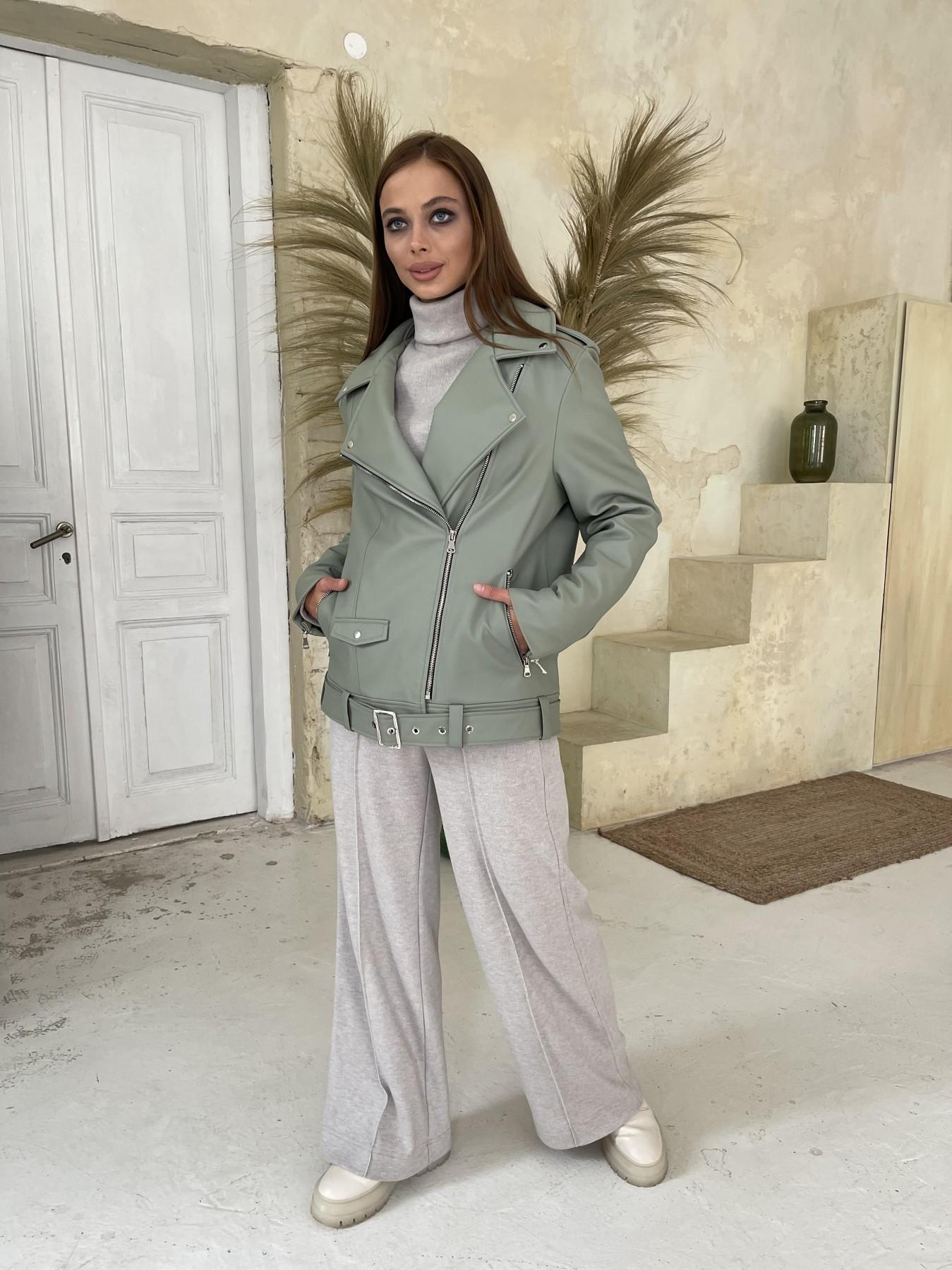 Босс Утепленная куртка из эко-кожи 11772 АРТ. 48578 Цвет: Олива - фото 4, интернет магазин tm-modus.ru