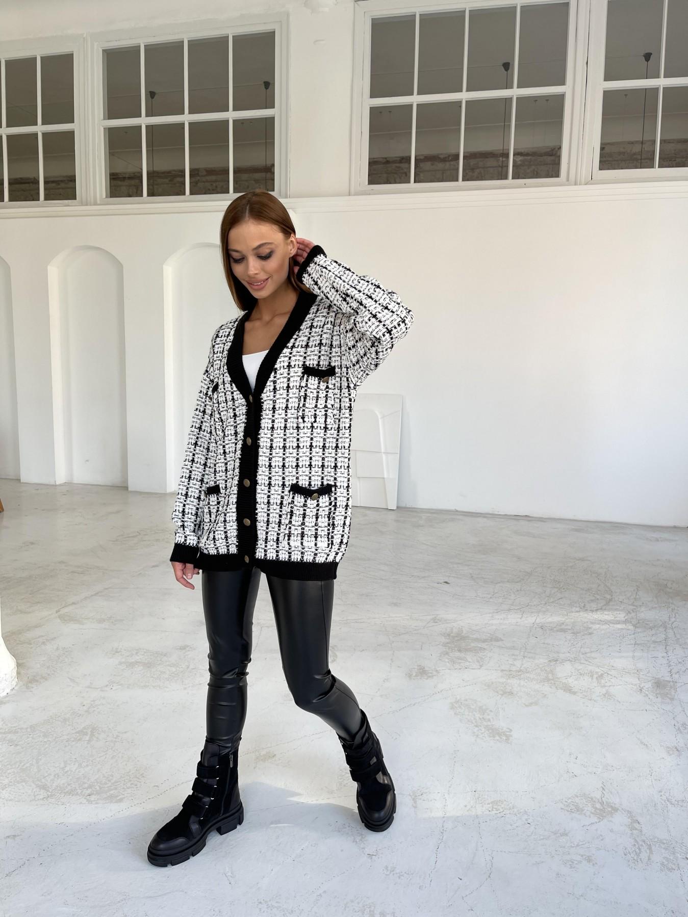 Кардиган 91022 АРТ. 48481 Цвет: Белый/черный - фото 3, интернет магазин tm-modus.ru