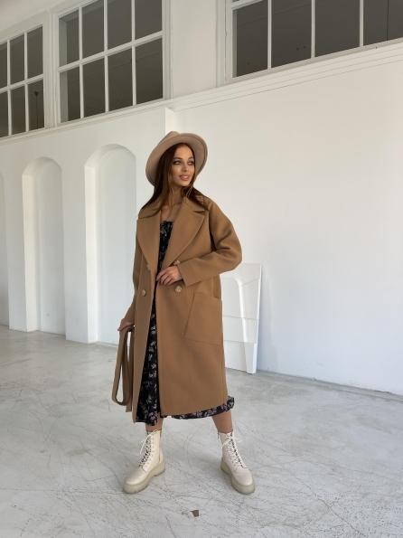"""Купить """"Свайп"""" пальто макси из кашемира 11823 оптом и в розницу"""