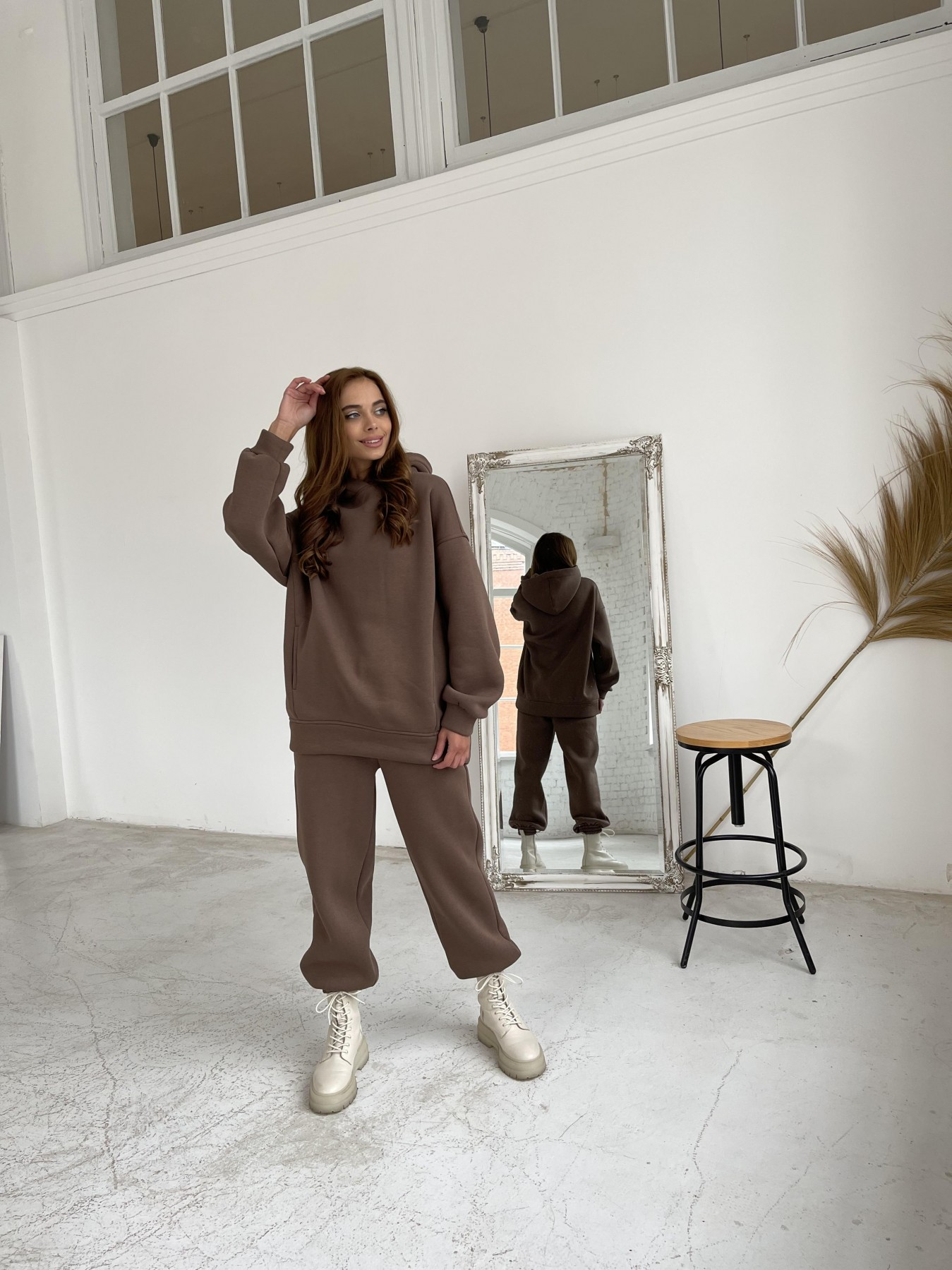 Марион утепленный костюм из трехнити 11852 АРТ. 48656 Цвет: Шоколад - фото 5, интернет магазин tm-modus.ru