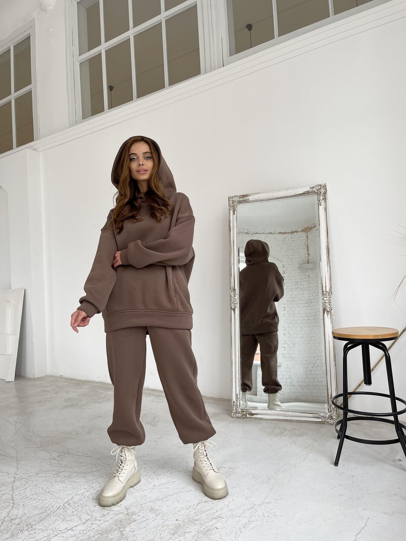 Марион утепленный костюм из трехнити 11852 АРТ. 48656 Цвет: Шоколад - фото 8, интернет магазин tm-modus.ru