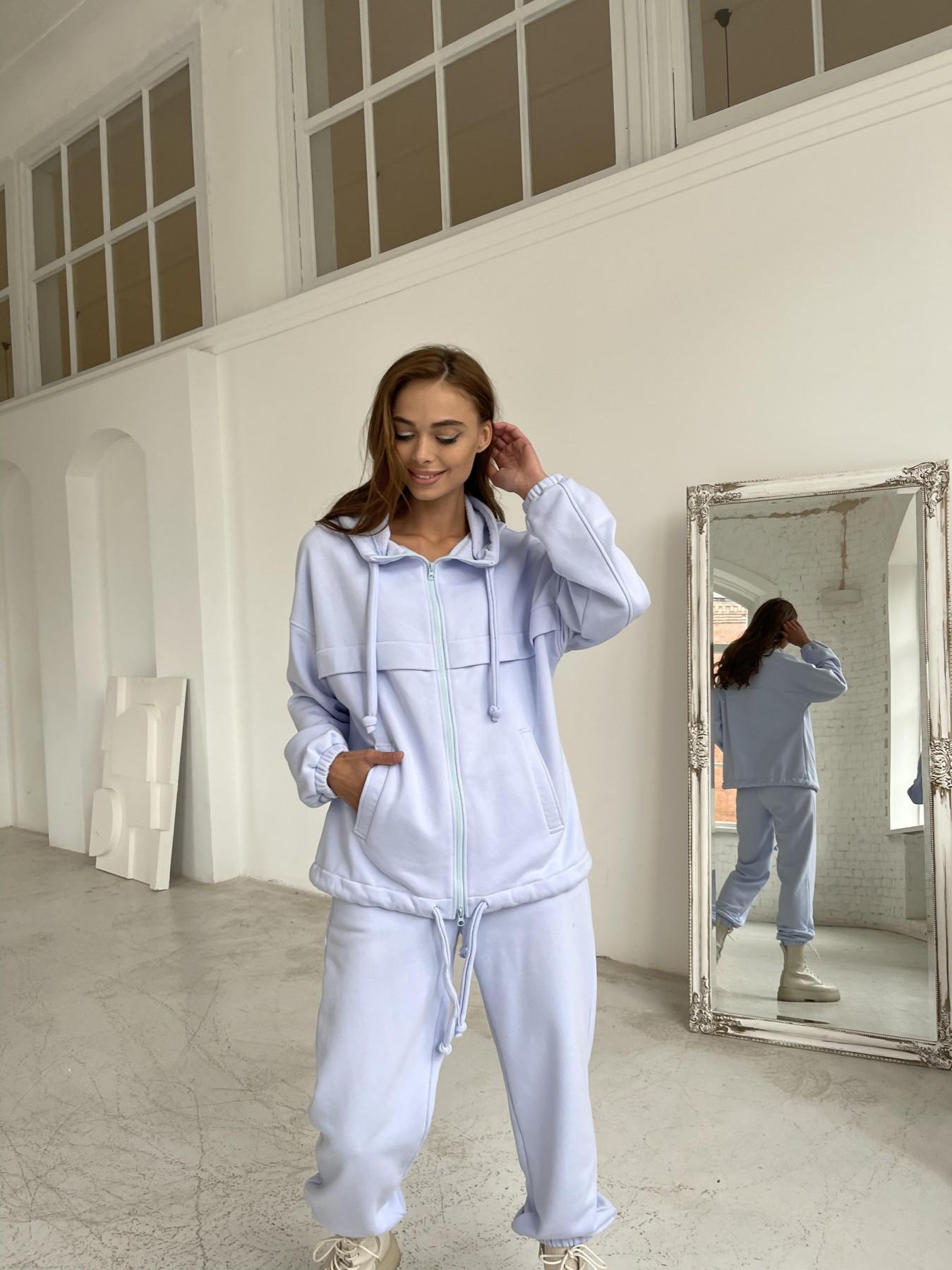 Фит трикотажный костюм из трехнити 11829 АРТ. 48601 Цвет: Голубой Светлый - фото 6, интернет магазин tm-modus.ru