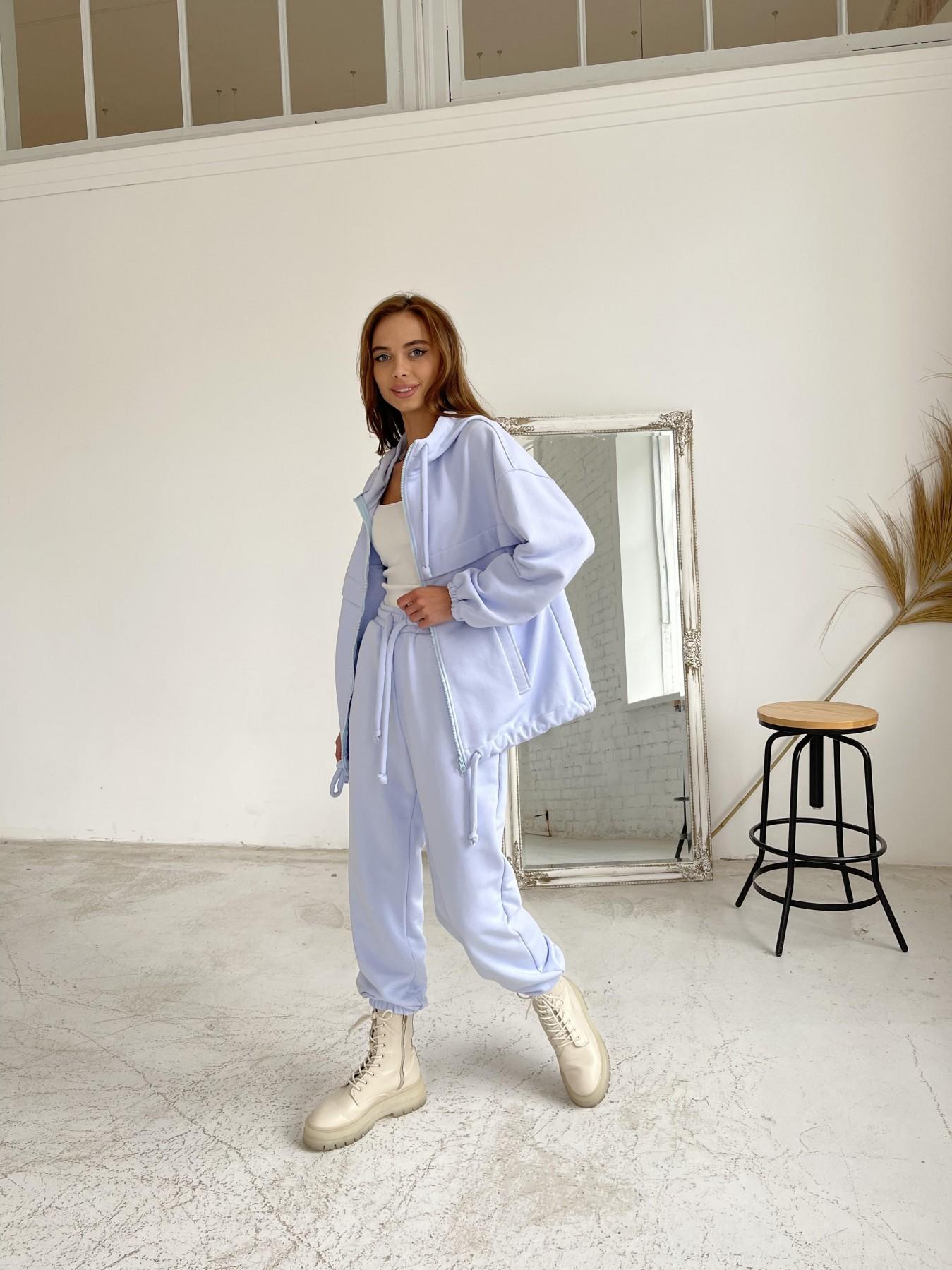 Фит трикотажный костюм из трехнити 11829 АРТ. 48601 Цвет: Голубой Светлый - фото 8, интернет магазин tm-modus.ru
