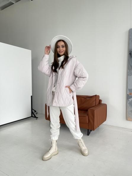 """Купить """"Пазл"""" стеганая куртка из плащевки 11764 оптом и в розницу"""